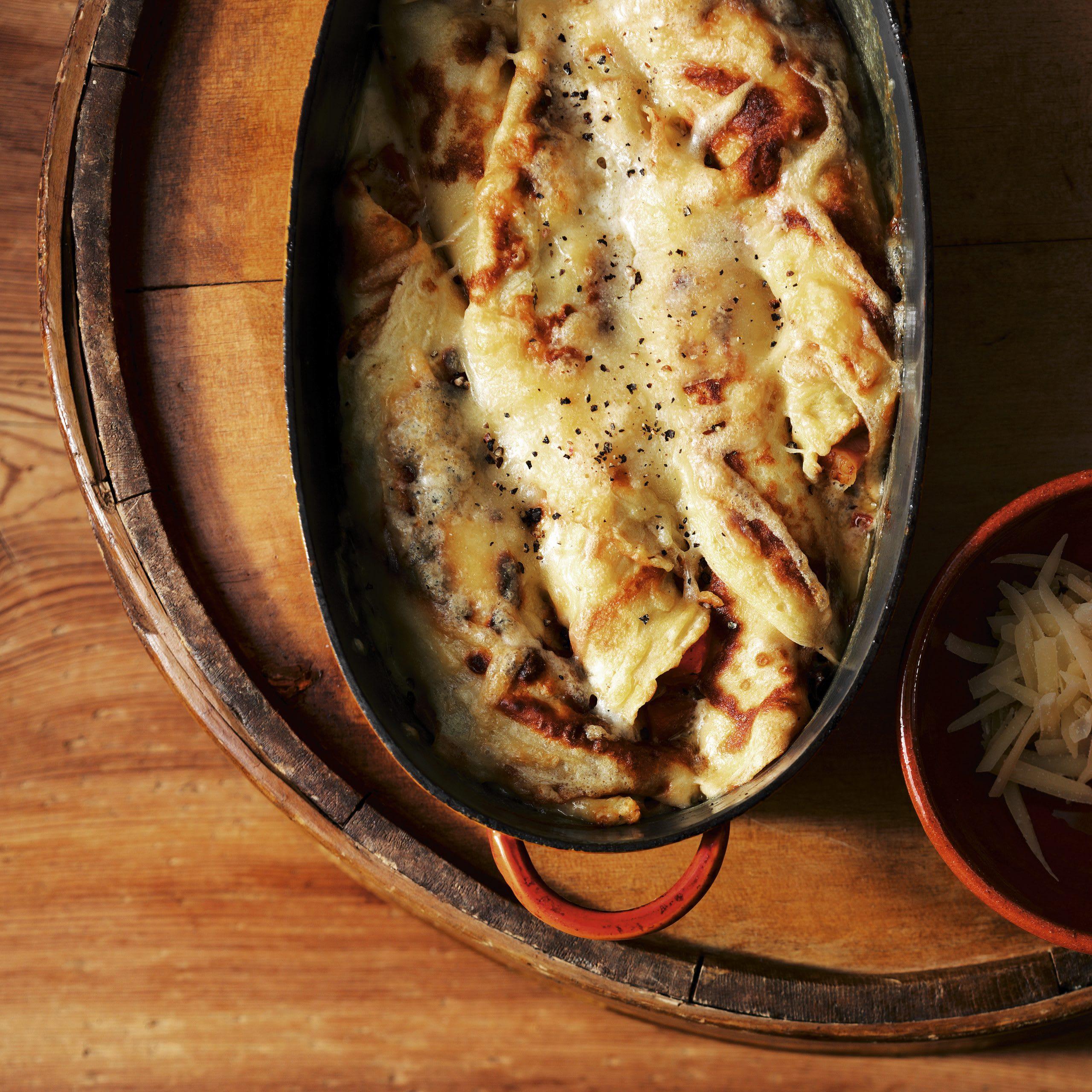 Omeletten mit Sbrinz-Rippli-Füllung
