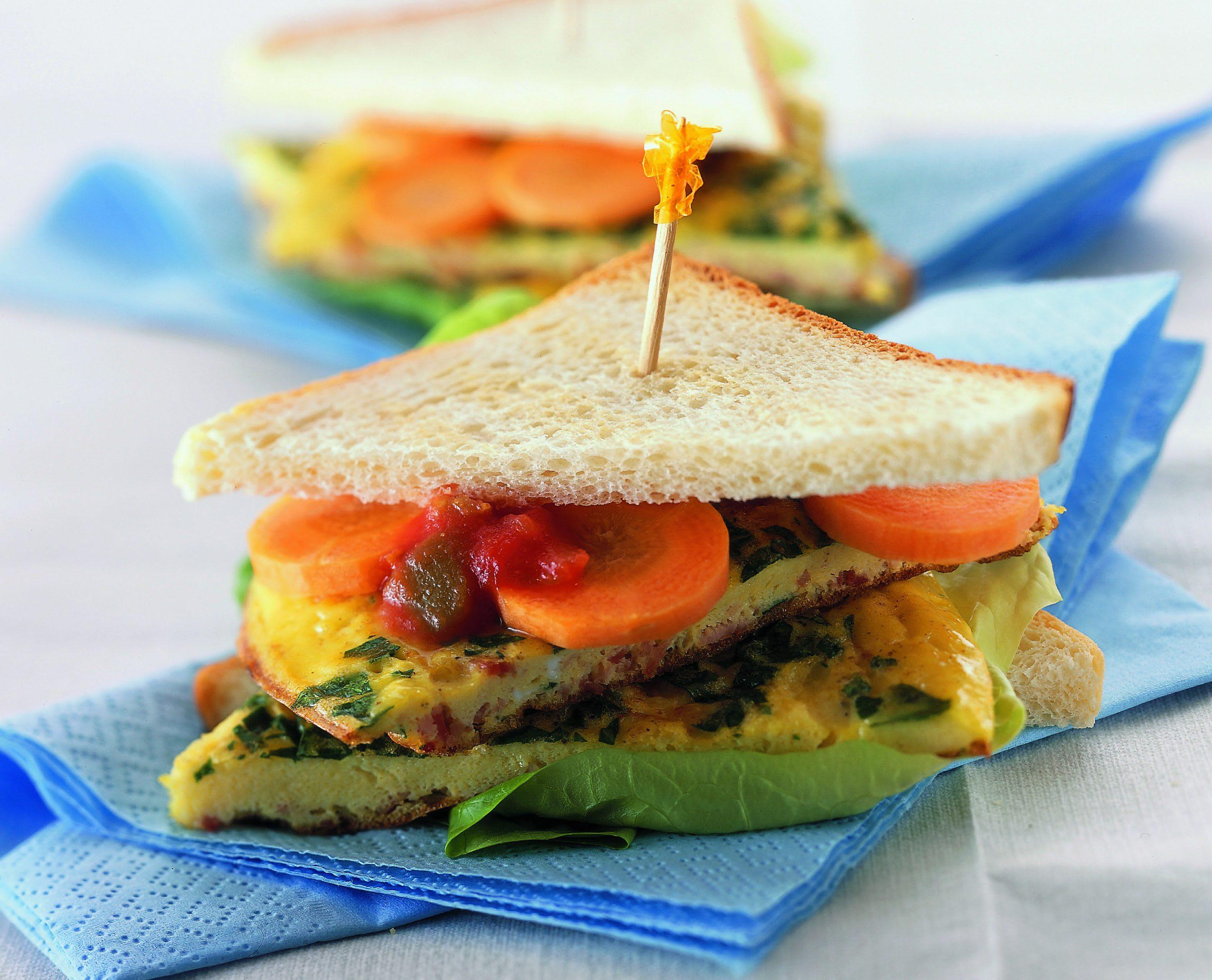 Omeletten-Sandwich