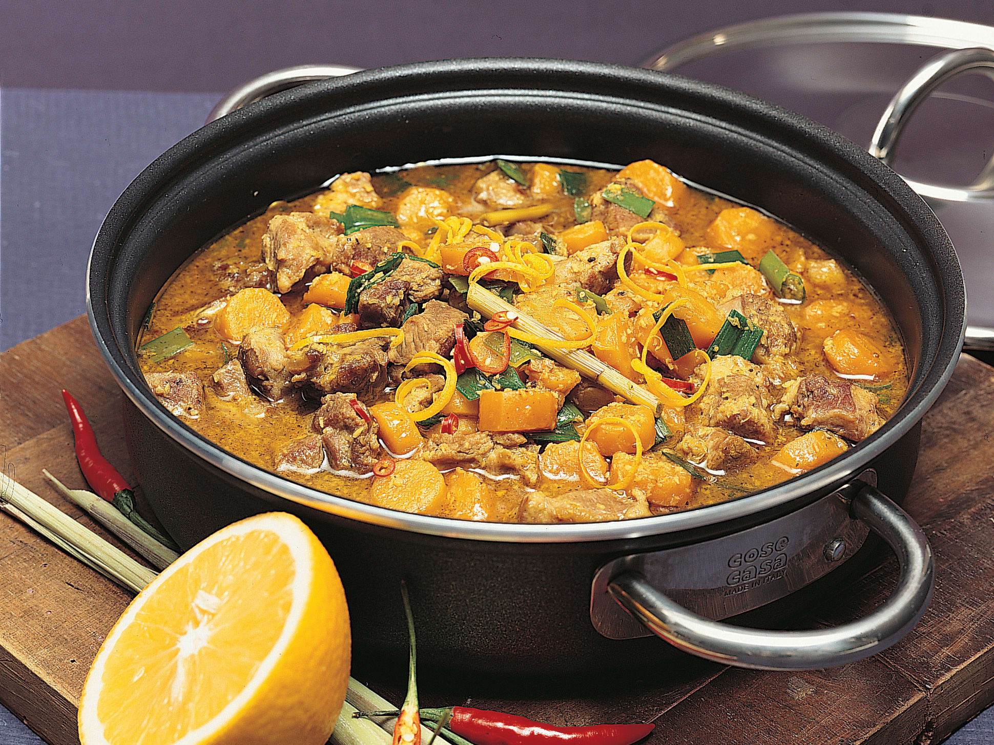 Curry d'agneau à l'orange