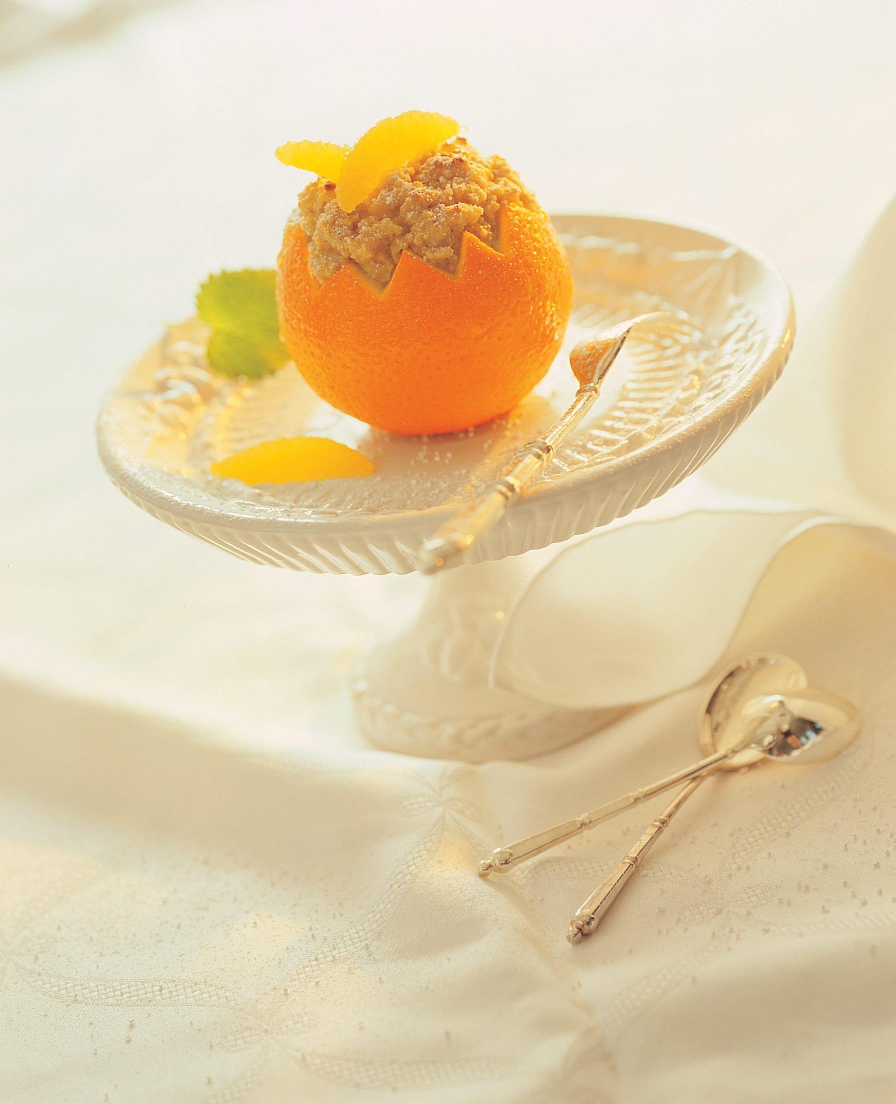 Orangen mit Hirsefüllung