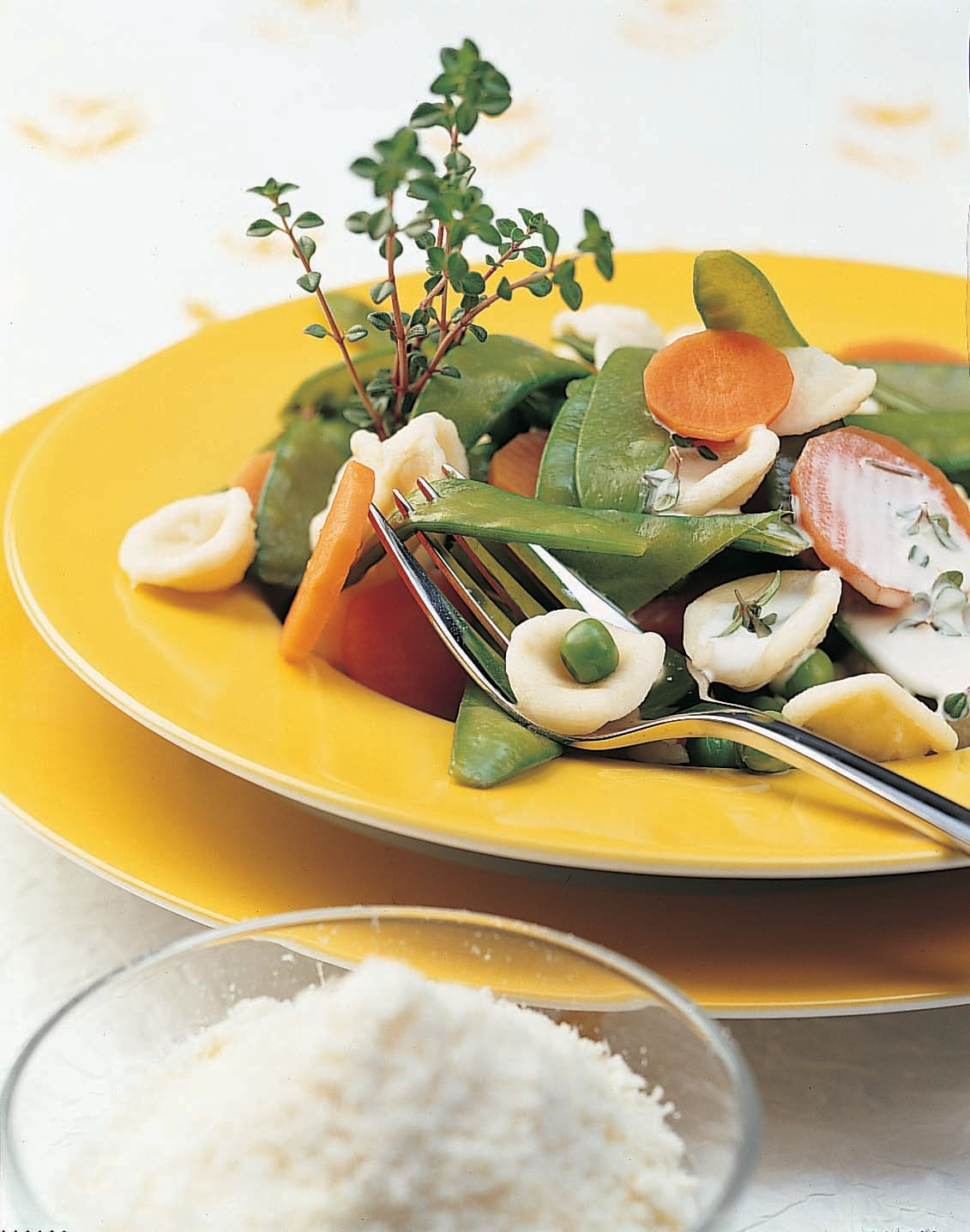 Orecchiette aux légumes sauce au thym citron