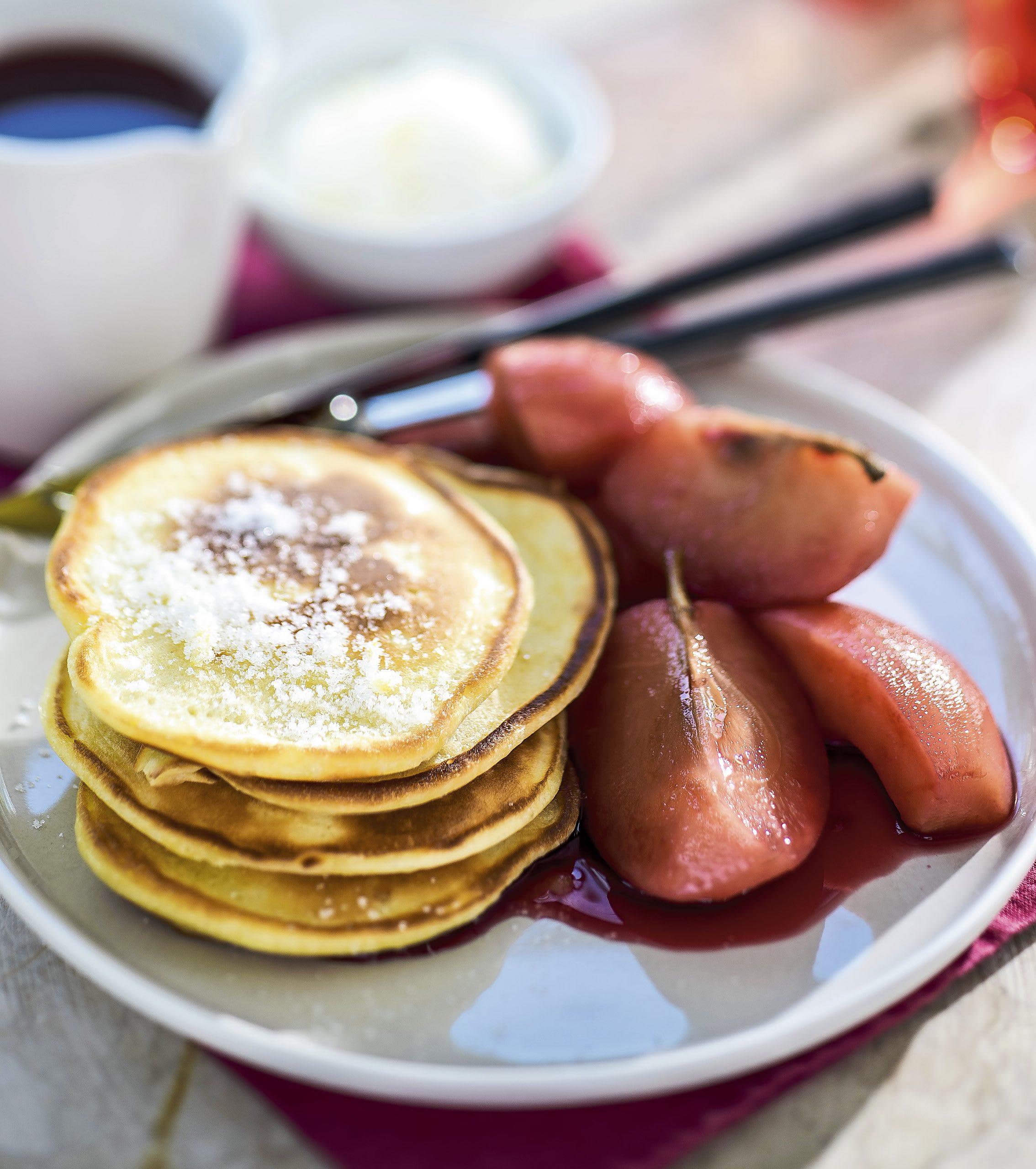 Pancakes et pommes au cynorrhodon