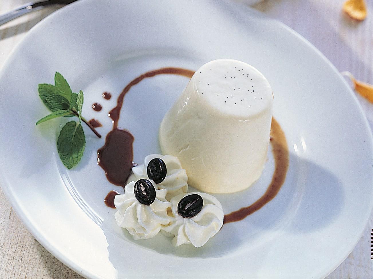 Panna cotta sauce café-chocolat