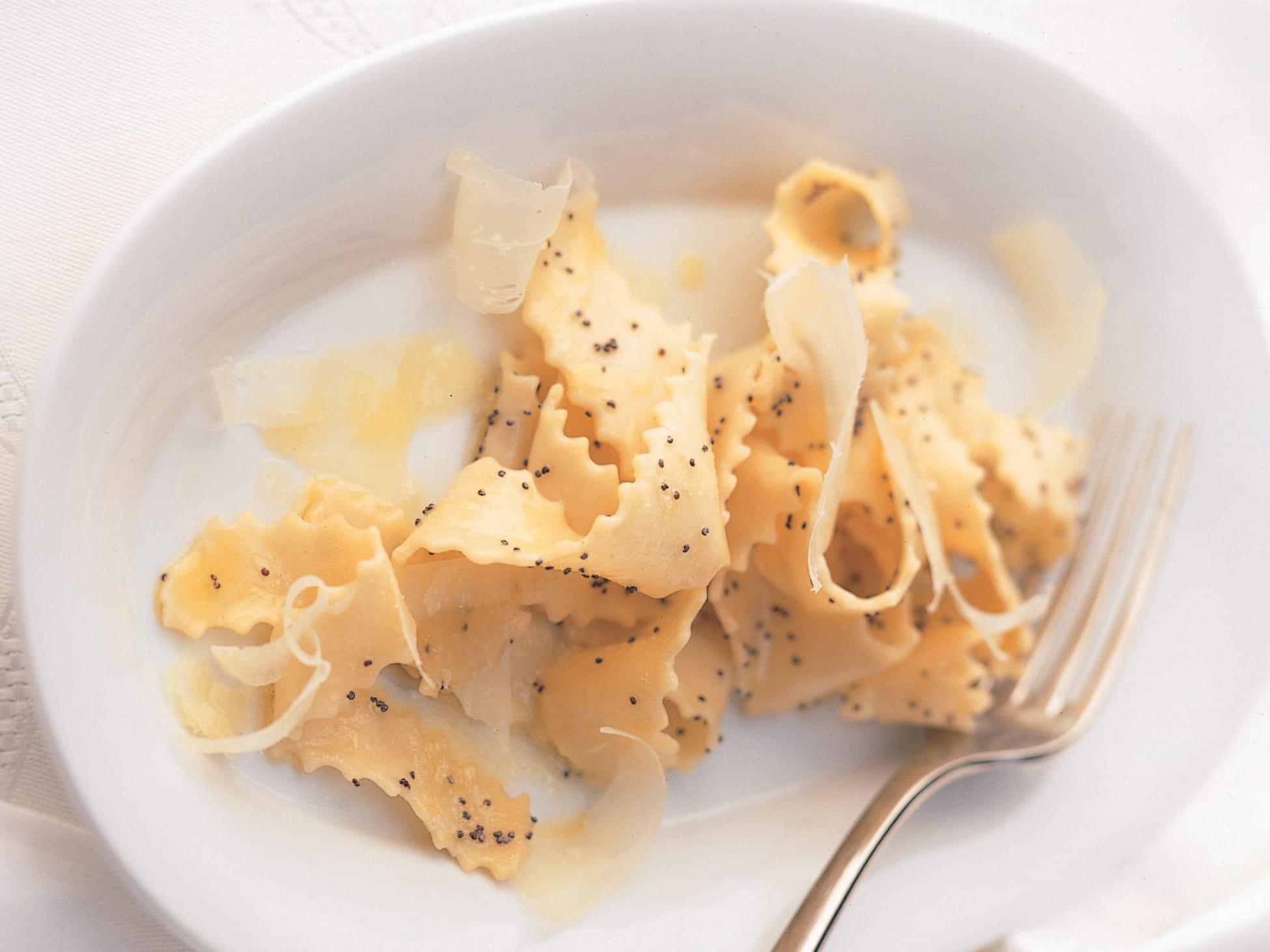 Pappardelles au beurre de pavot