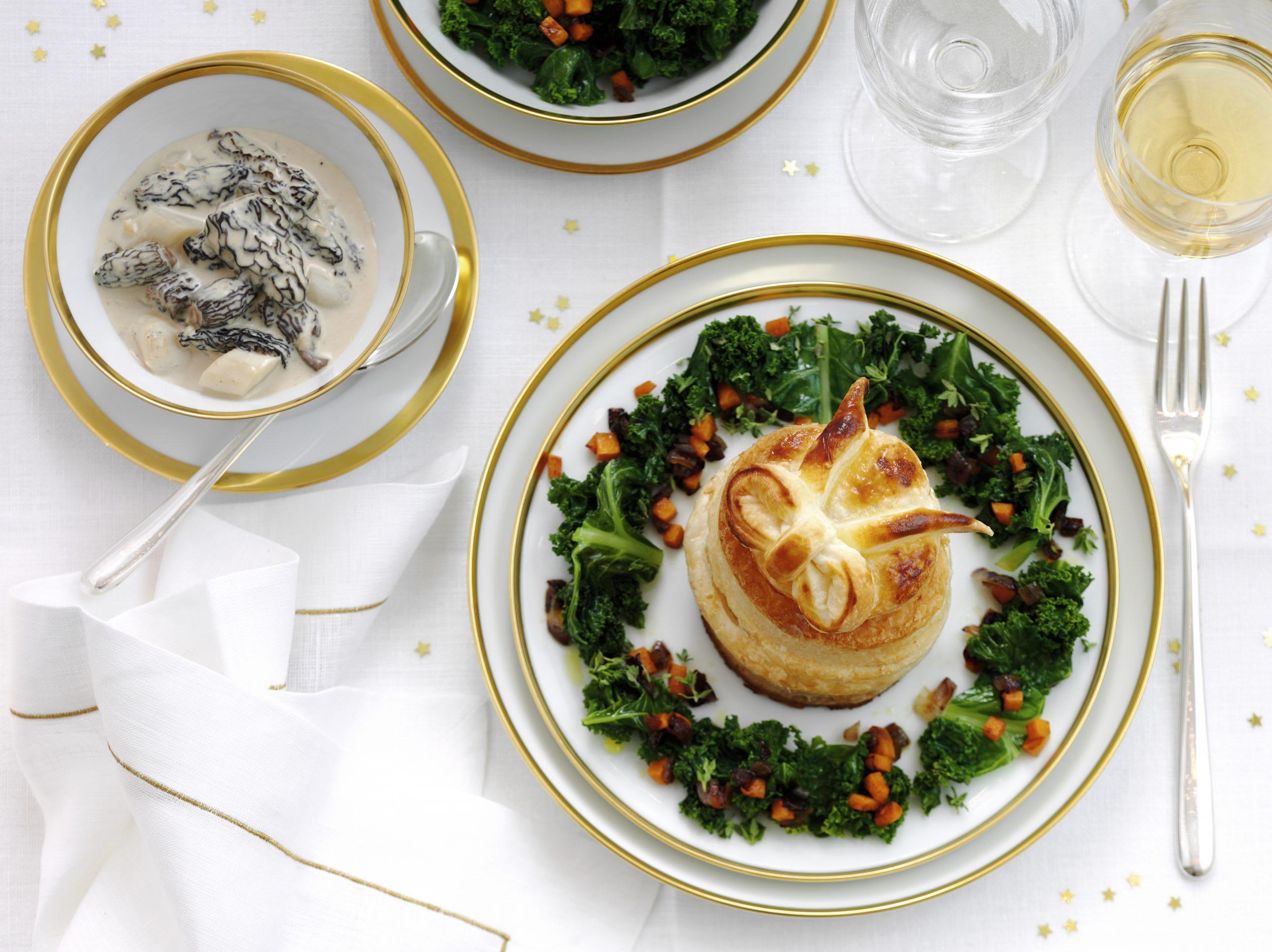 Pastetli vegetarisch mit Federkohl und Rüebli
