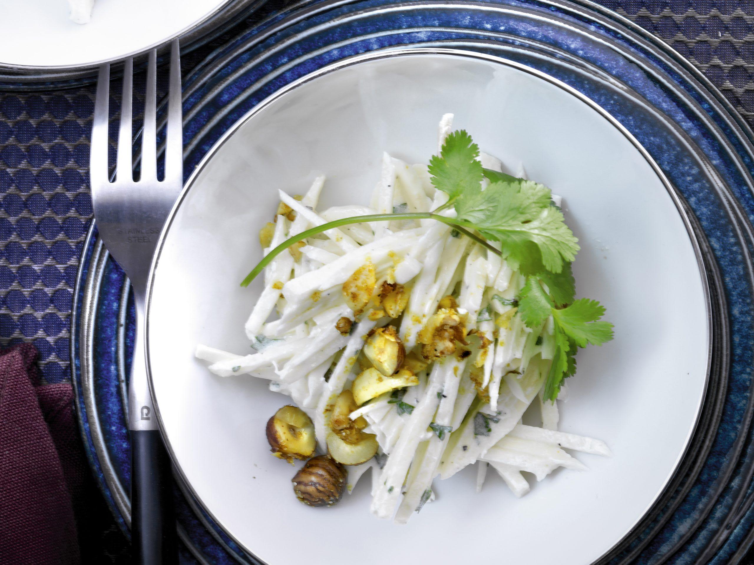Salade de panais aux fruits secs épicés