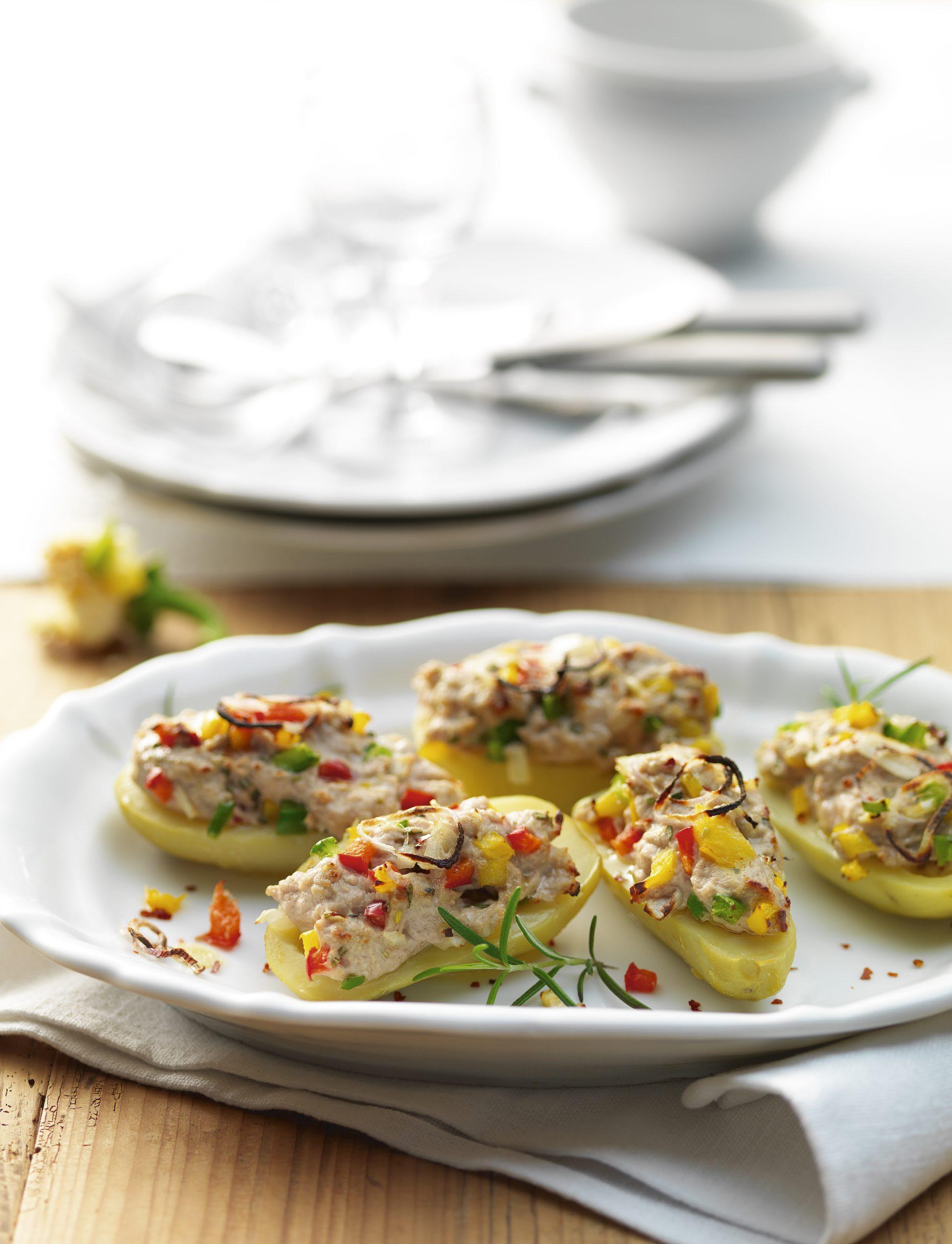 Pommes de terre aux poivrons et au hachis