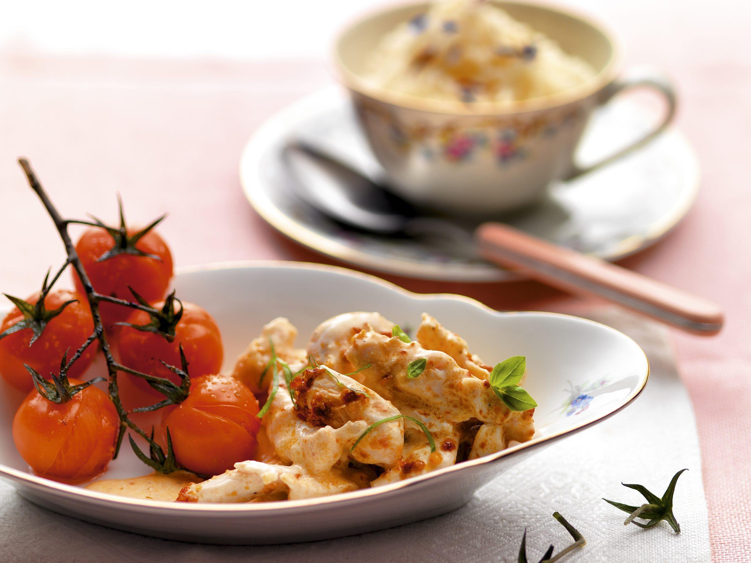 Pesto-Poulet mit Cherrytomaten