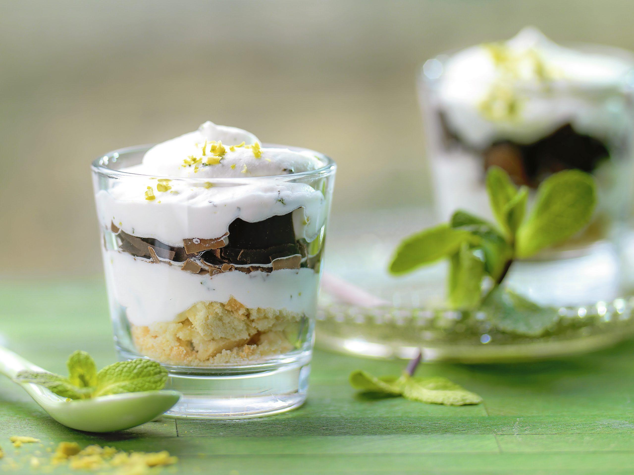 Pfefferminz-Schokoladen-Trifle