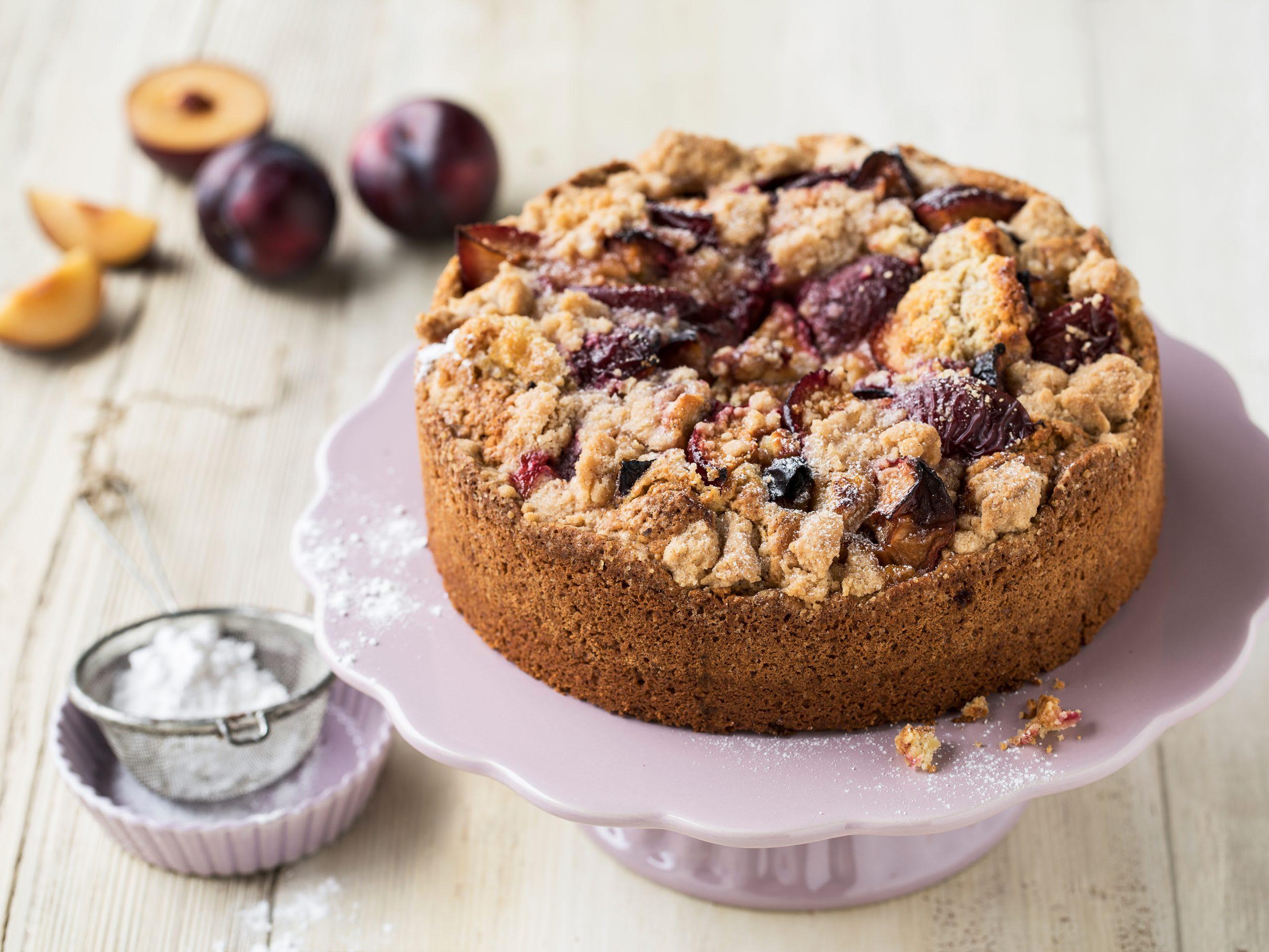 Gâteau crumble prunes-pruneaux