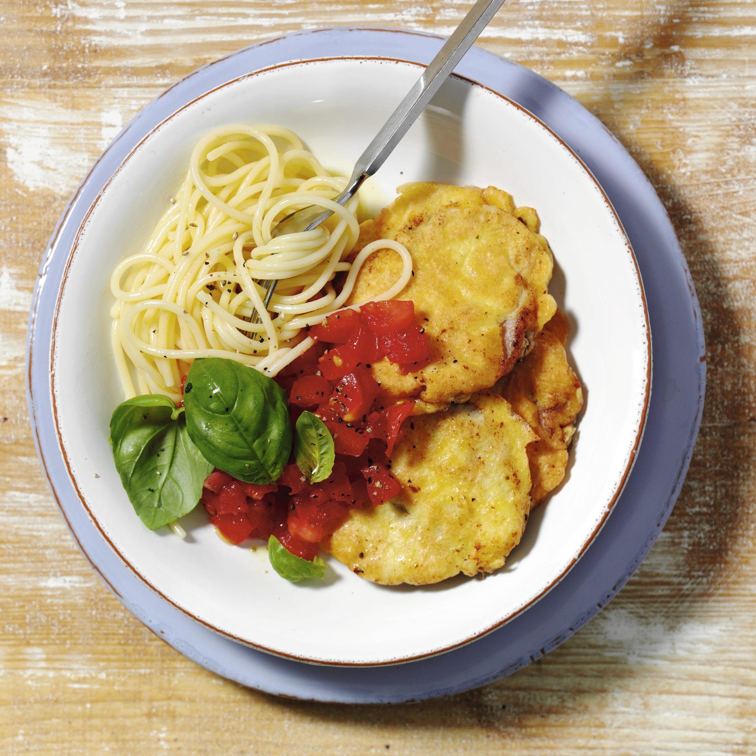 Piccata et salsa à la tomate