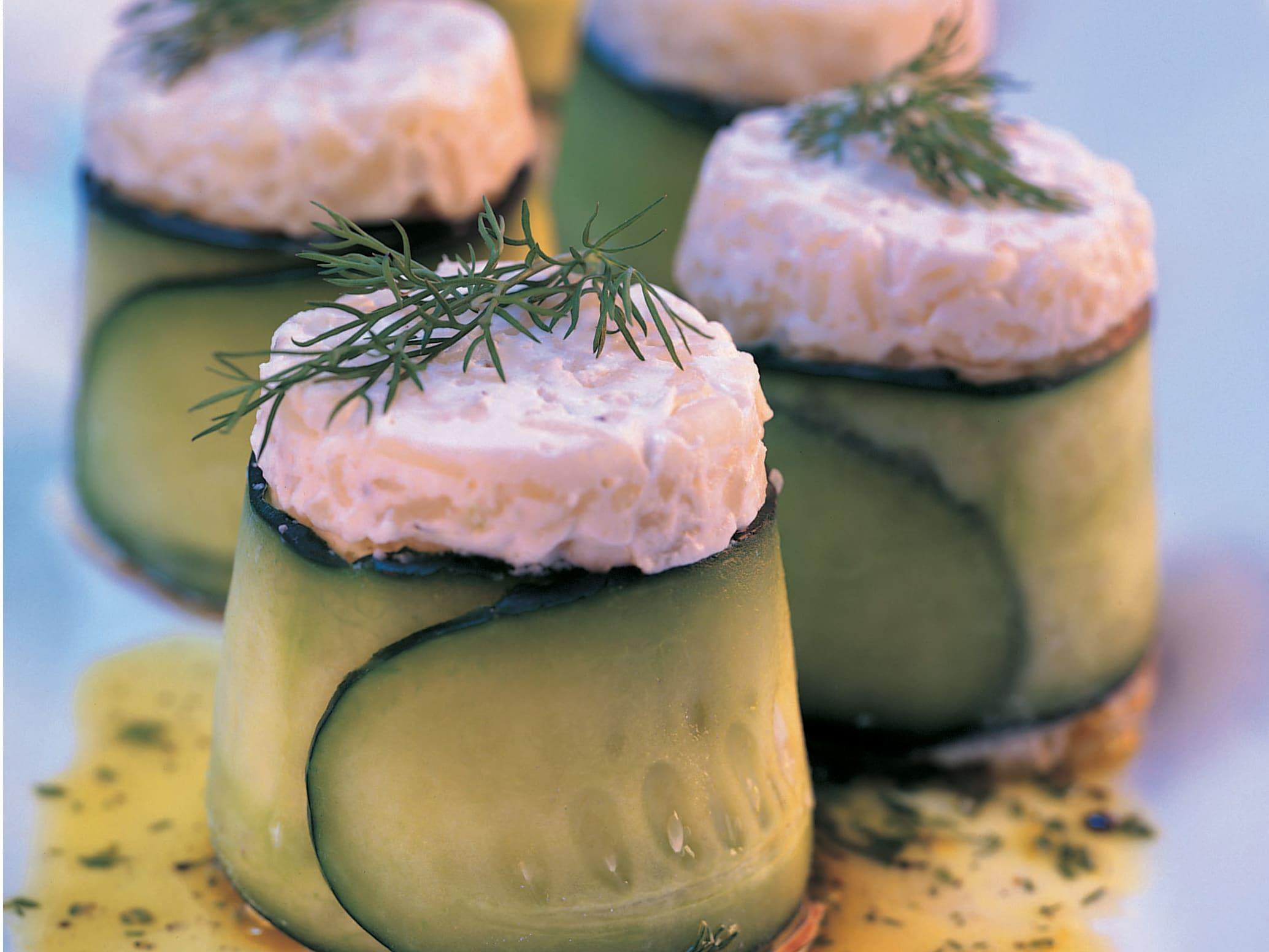 Pikante Gurken-Reisköpfchen