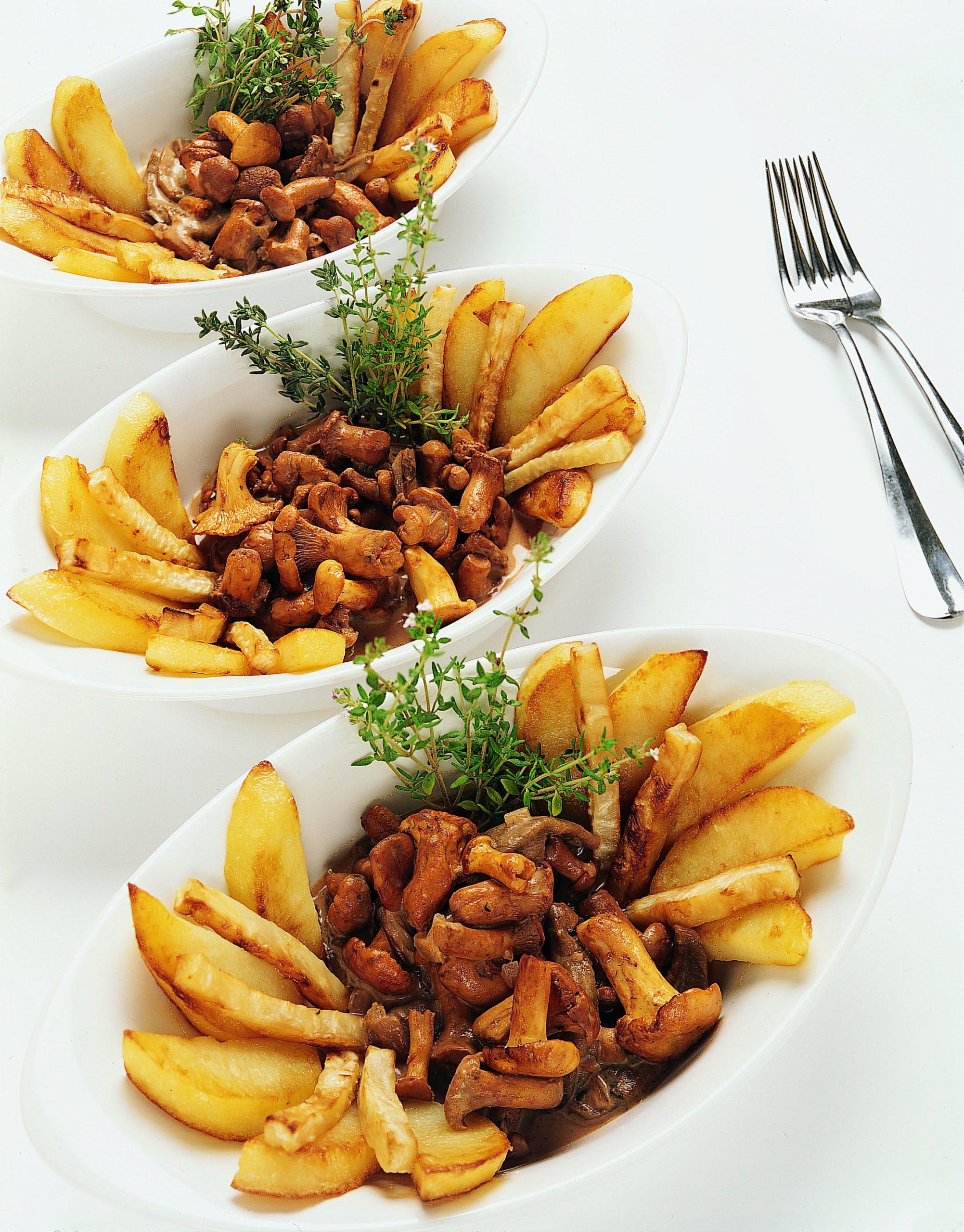 Pilzragout mit Sellerie-Bratkartoffeln