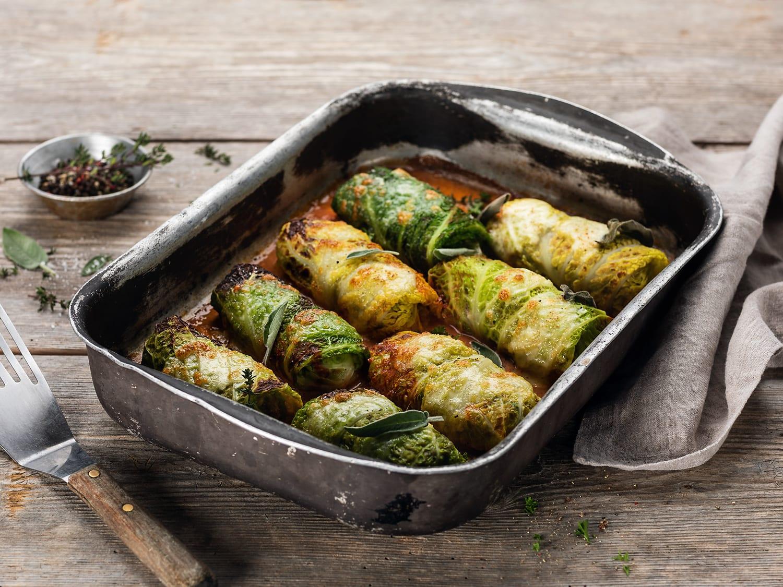 Polpette di verza (paupiettes de chou à la viande hachée)