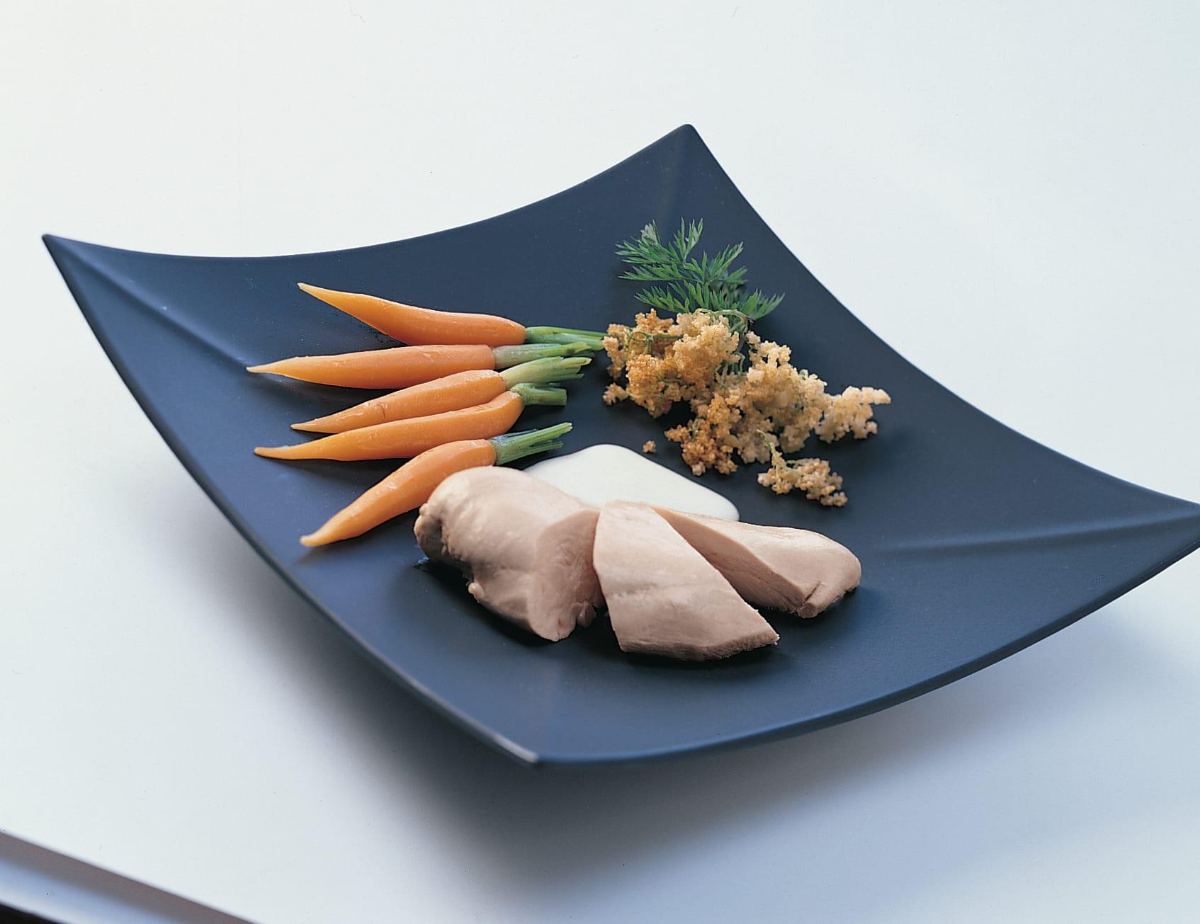 Poulet aux carottes sauce aux fleurs de sureau