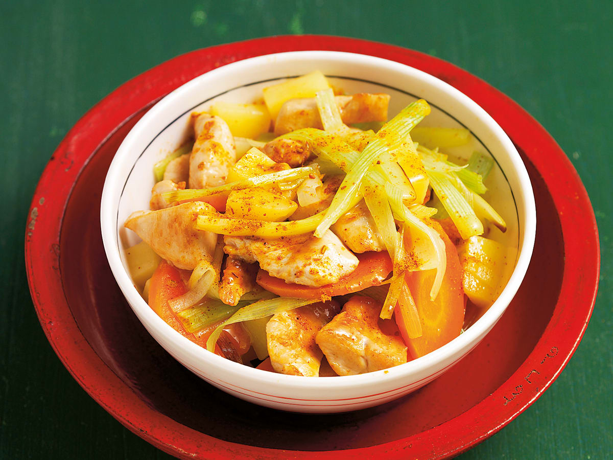 Poulet-Gemüse-Pfanne