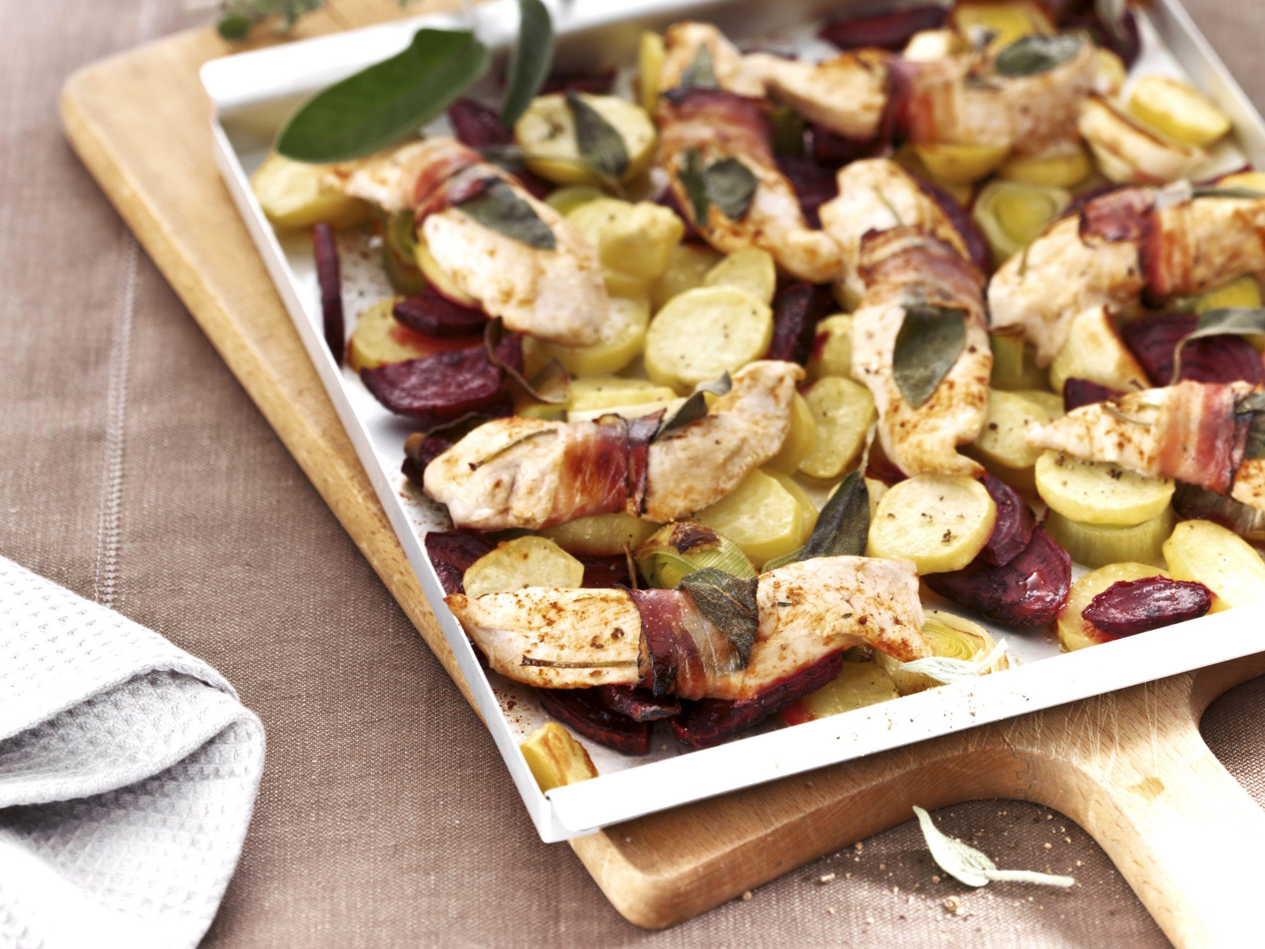 Poulet-Kartoffel-Blech