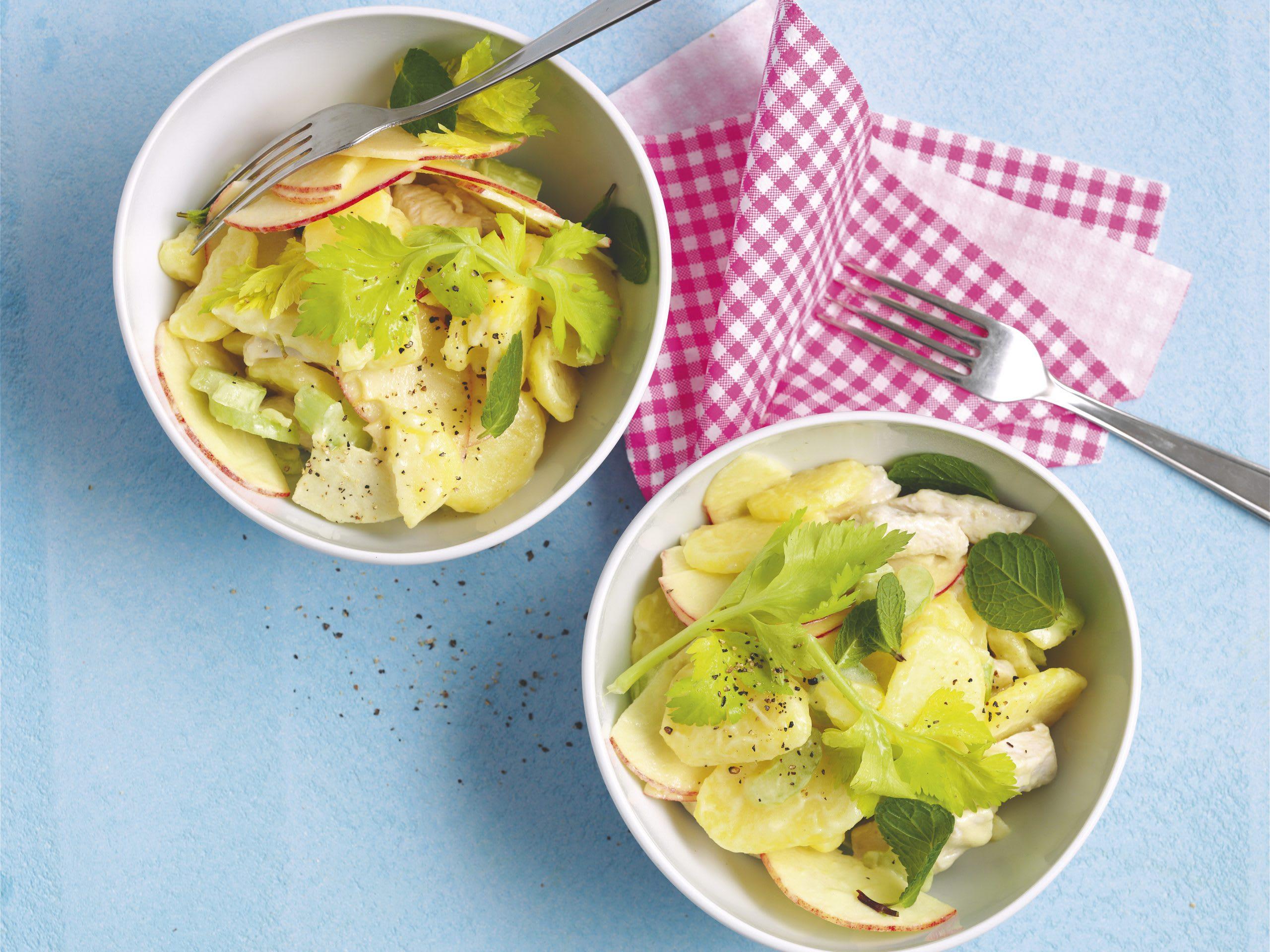 Poulet-Kartoffel-Salat mit Joghurtsauce