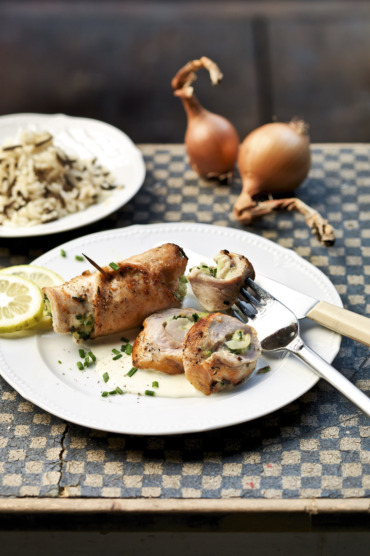 Rouleaux au poulet et aux herbes