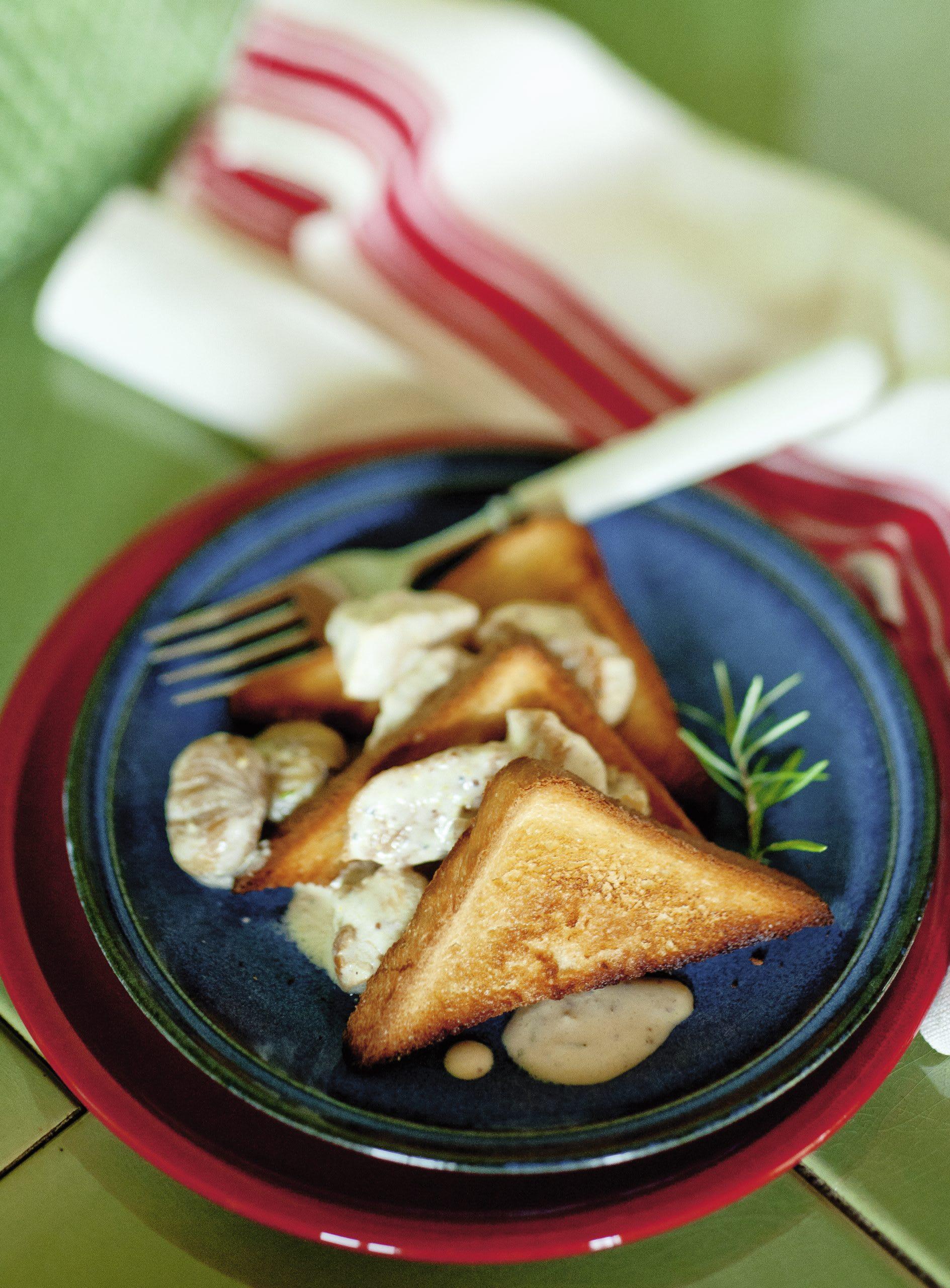 Poulet-Marroni-Toast
