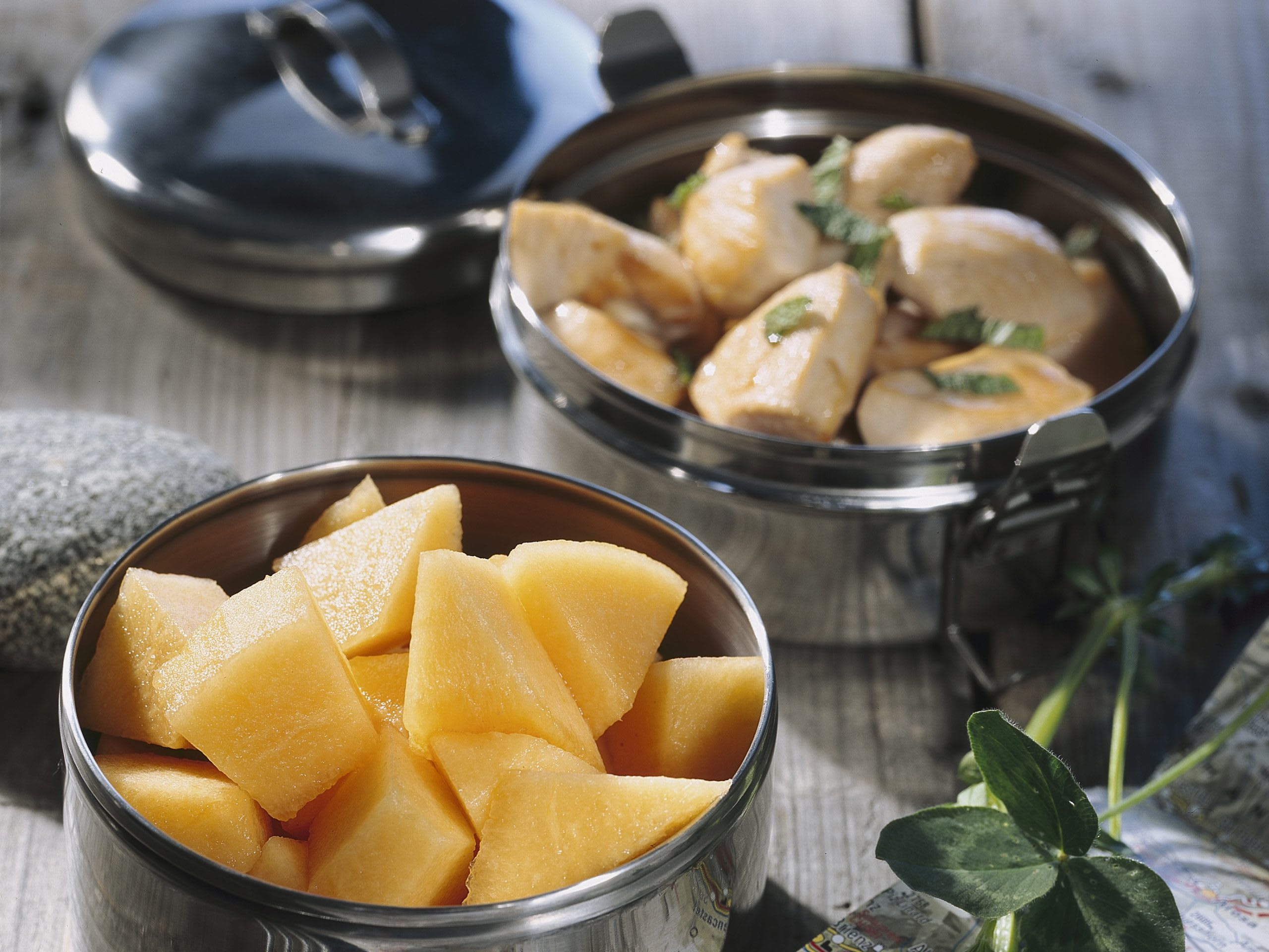 Poulet-Melonen-Salat