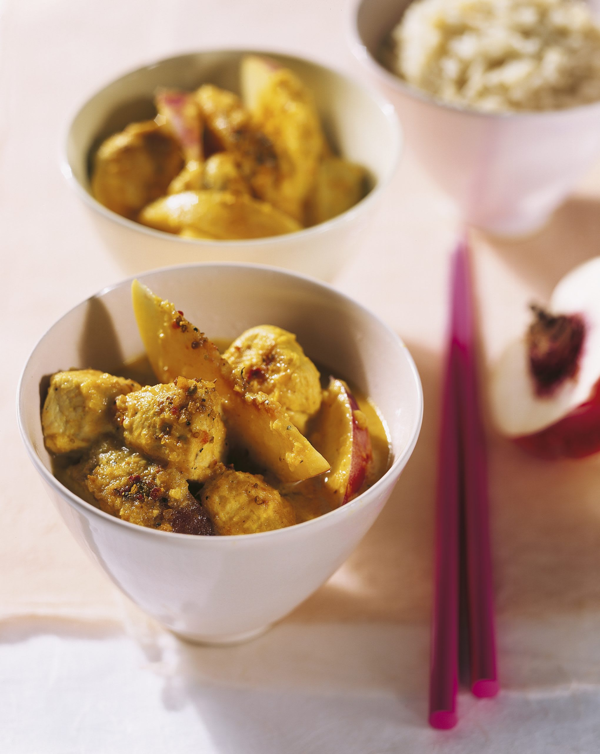 Curry de poulet aux nectarines