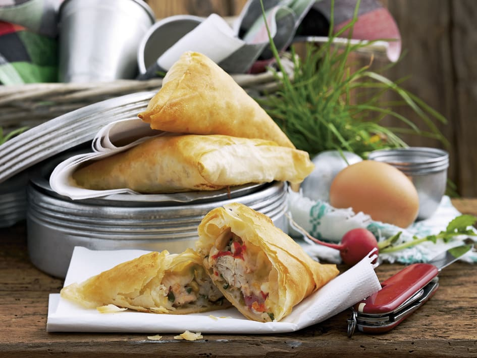 Triangles poulet-tomate