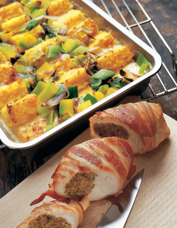 Pouletbrüstchen mit Polenta-Gemüse-Gratin
