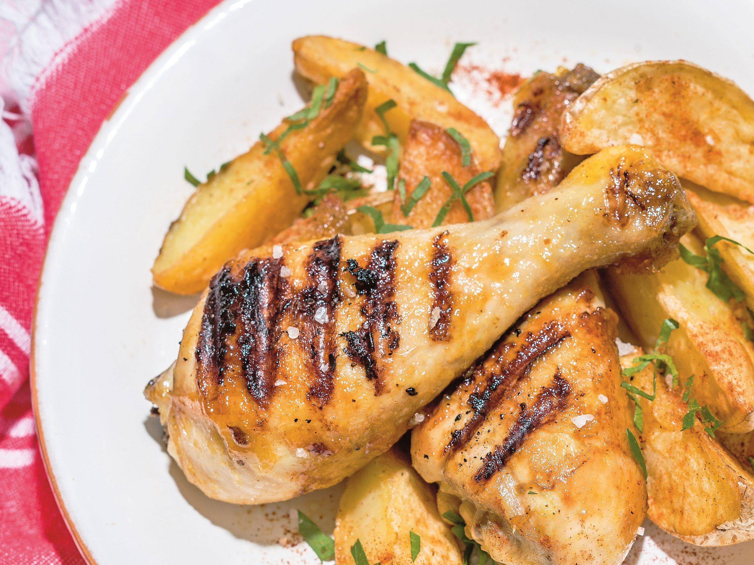 Pilons de poulet et marinade aux abricots pour le barbecue