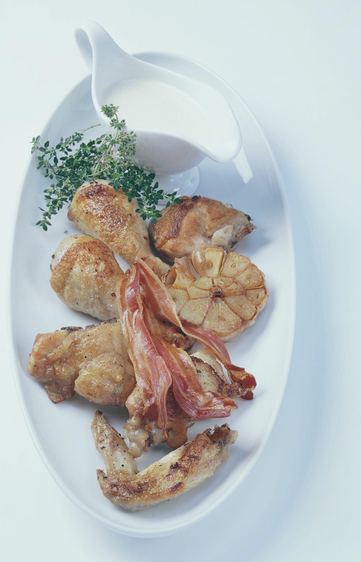 Pouletstücke vom Blech