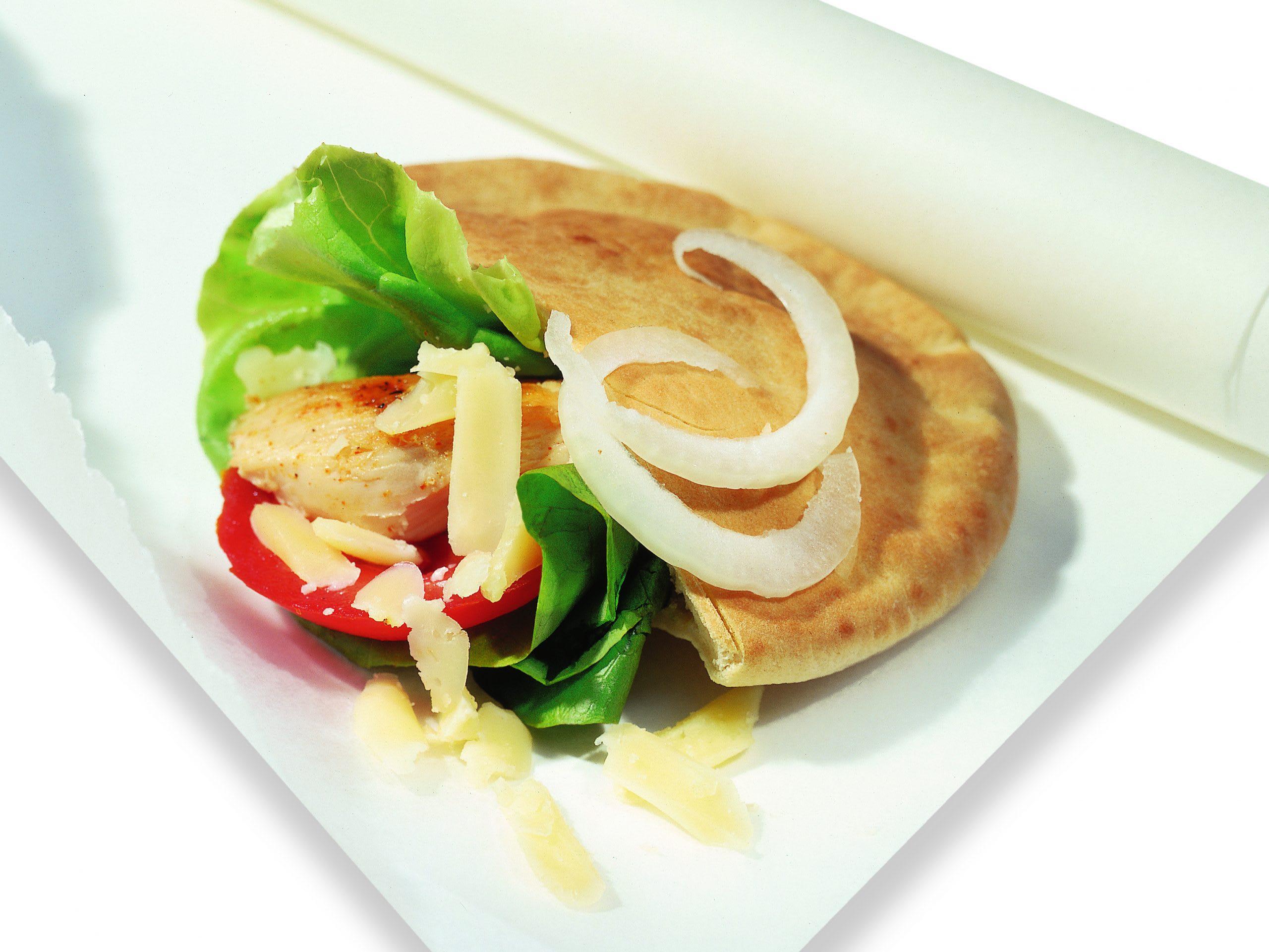 Sandwich au poulet et fromage raclette