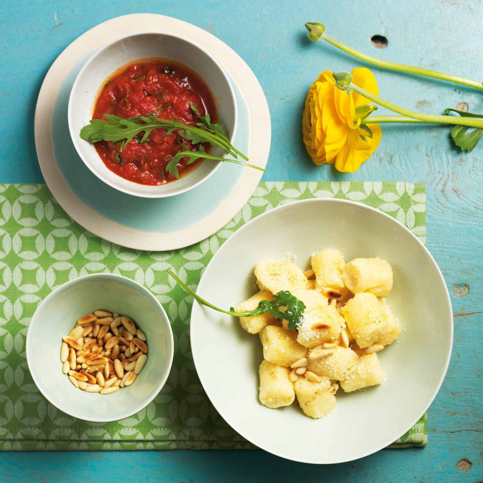 Gnocchi au séré et sauce tomate