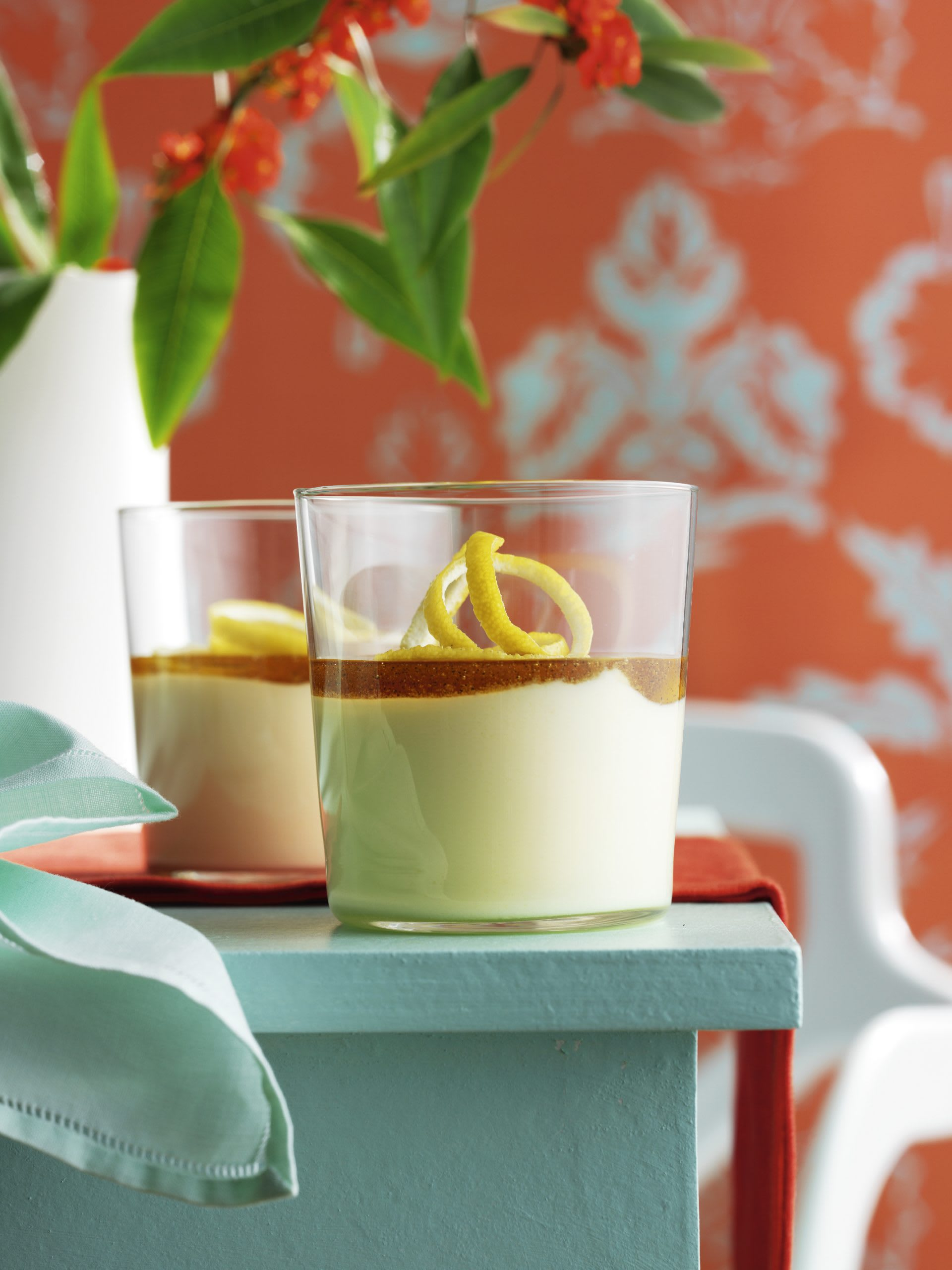 Mousse au séré sauce miel-citron