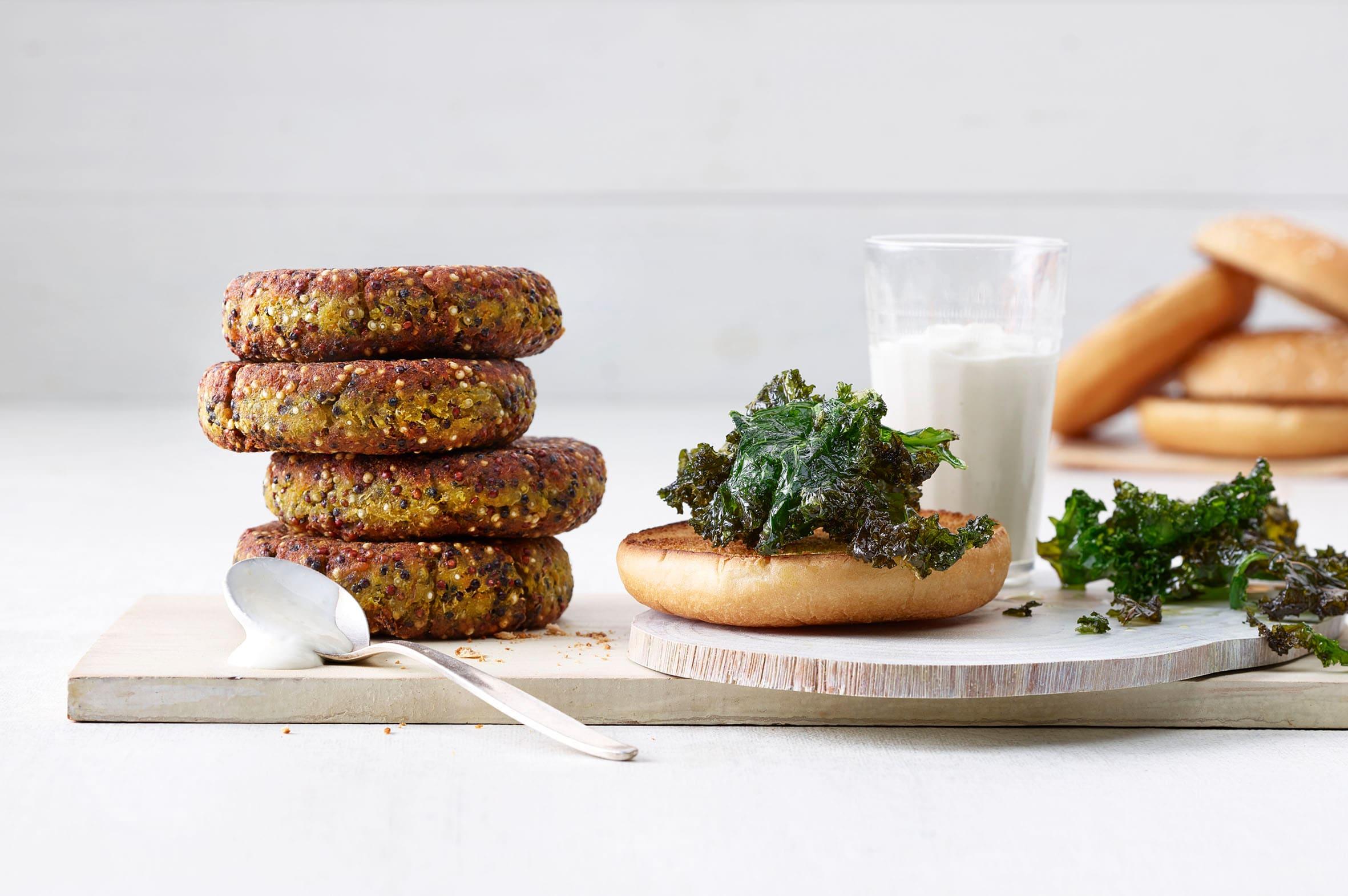 Burger de quinoa (veggie burger)