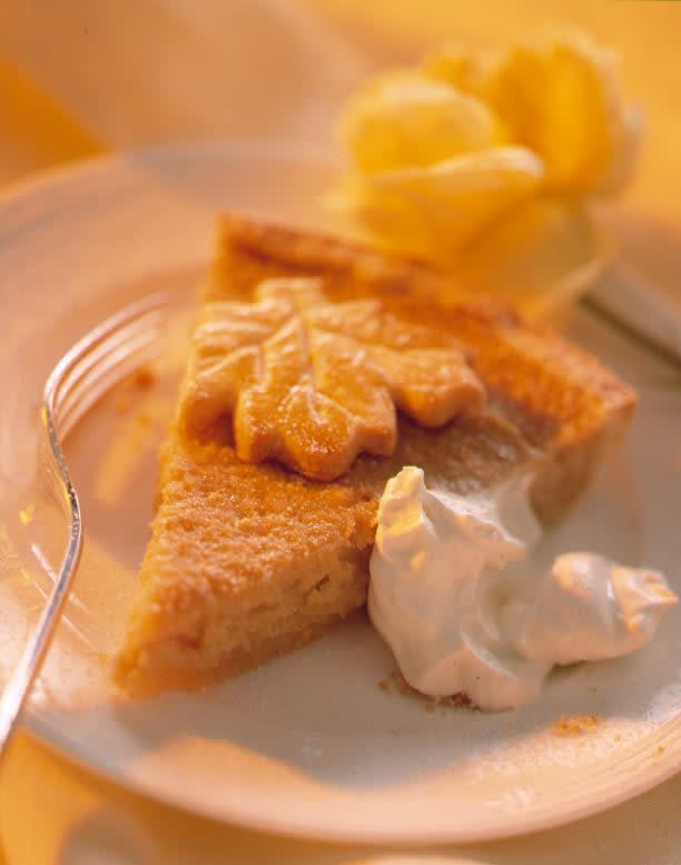 Gâteau aux coings et crème au miel
