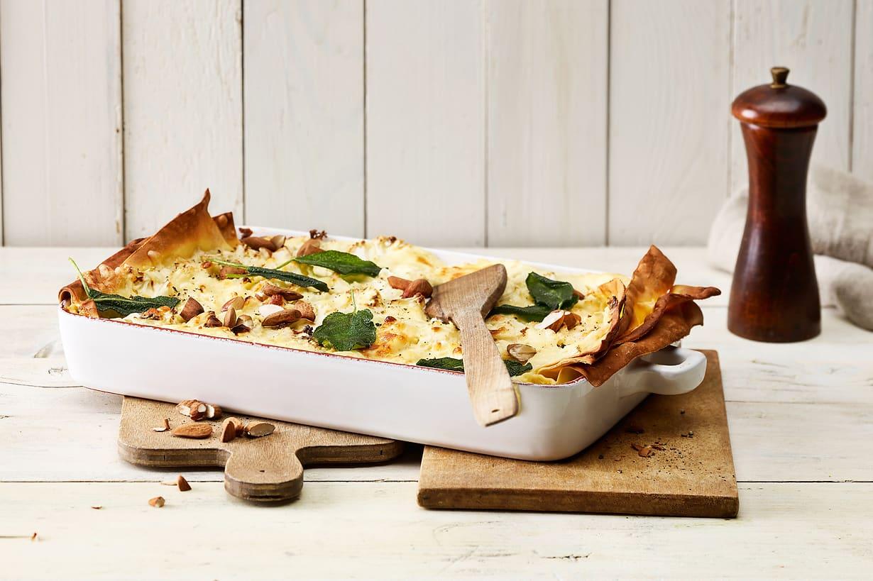 Lasagnes au chou-fleur et au fromage à raclette