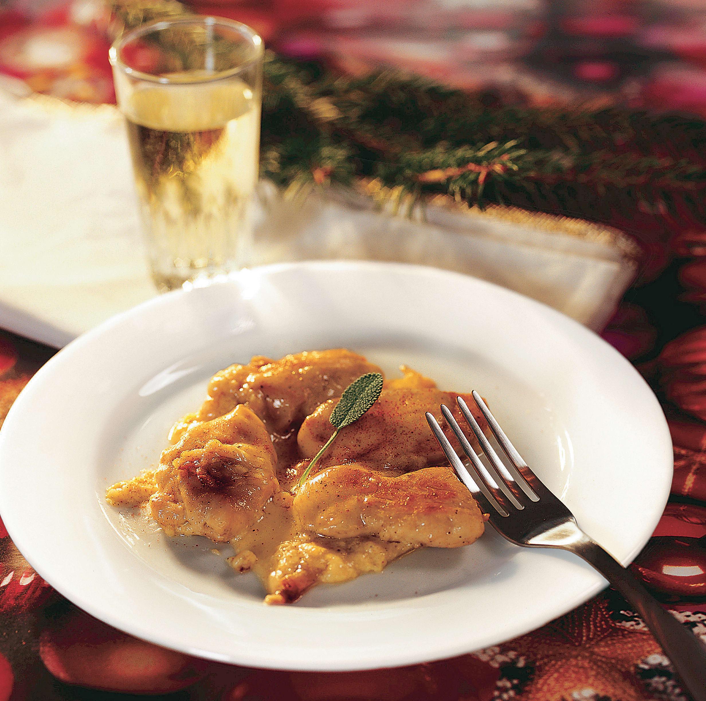 Raclette-Poulet mit Käsecrème