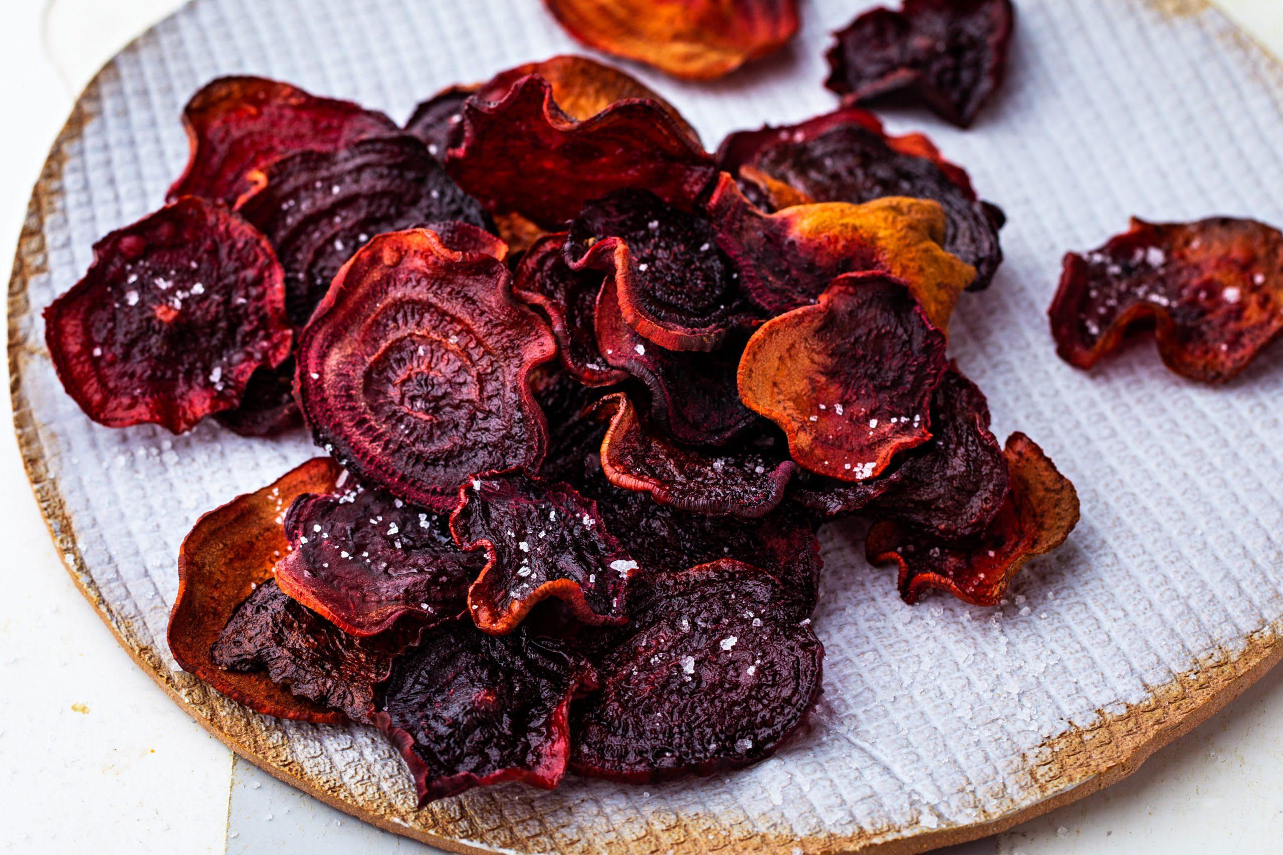 Chips de betterave rouge