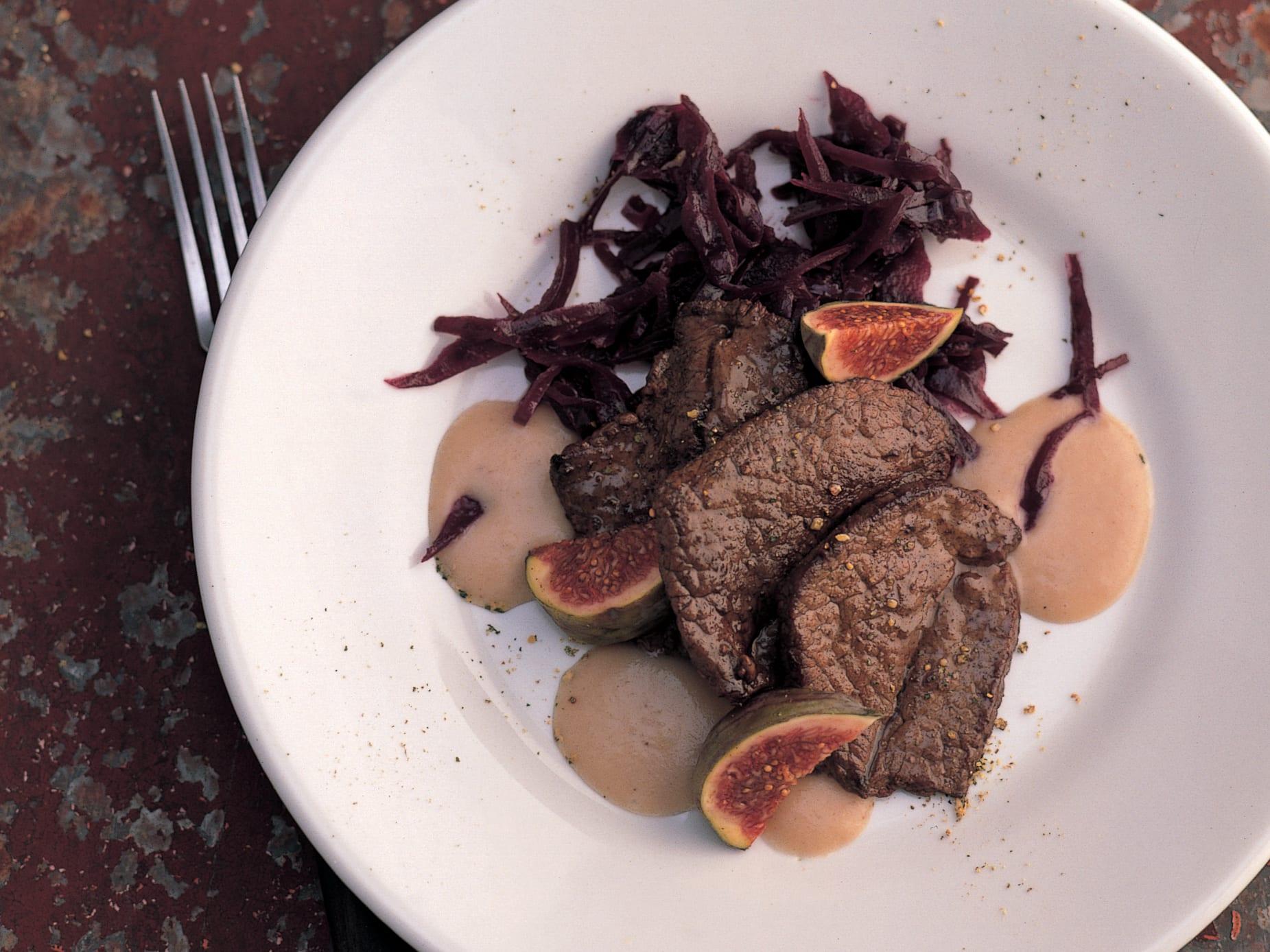 Escalopes de chevreuil aux marrons