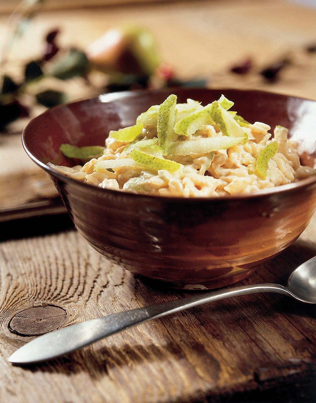 Bircher au riz et aux poires