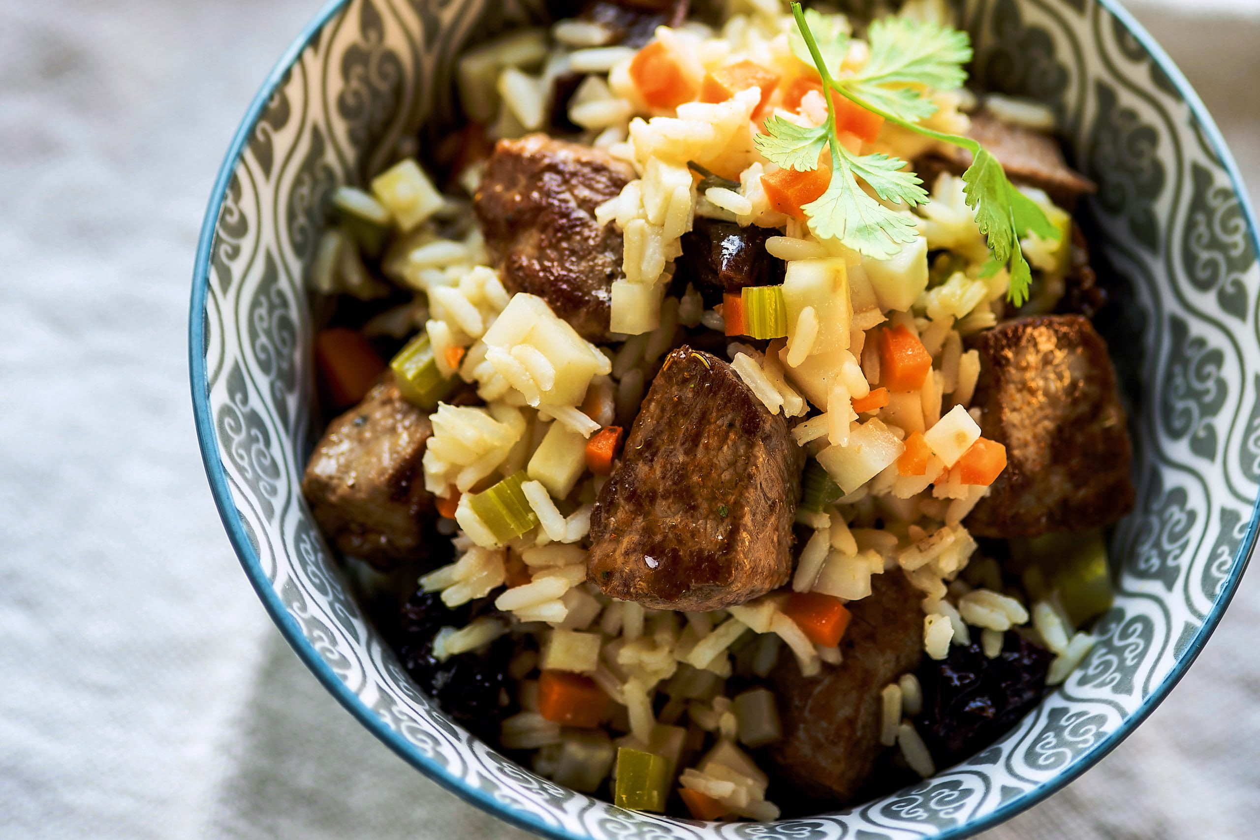 Ragoût d'agneau et riz