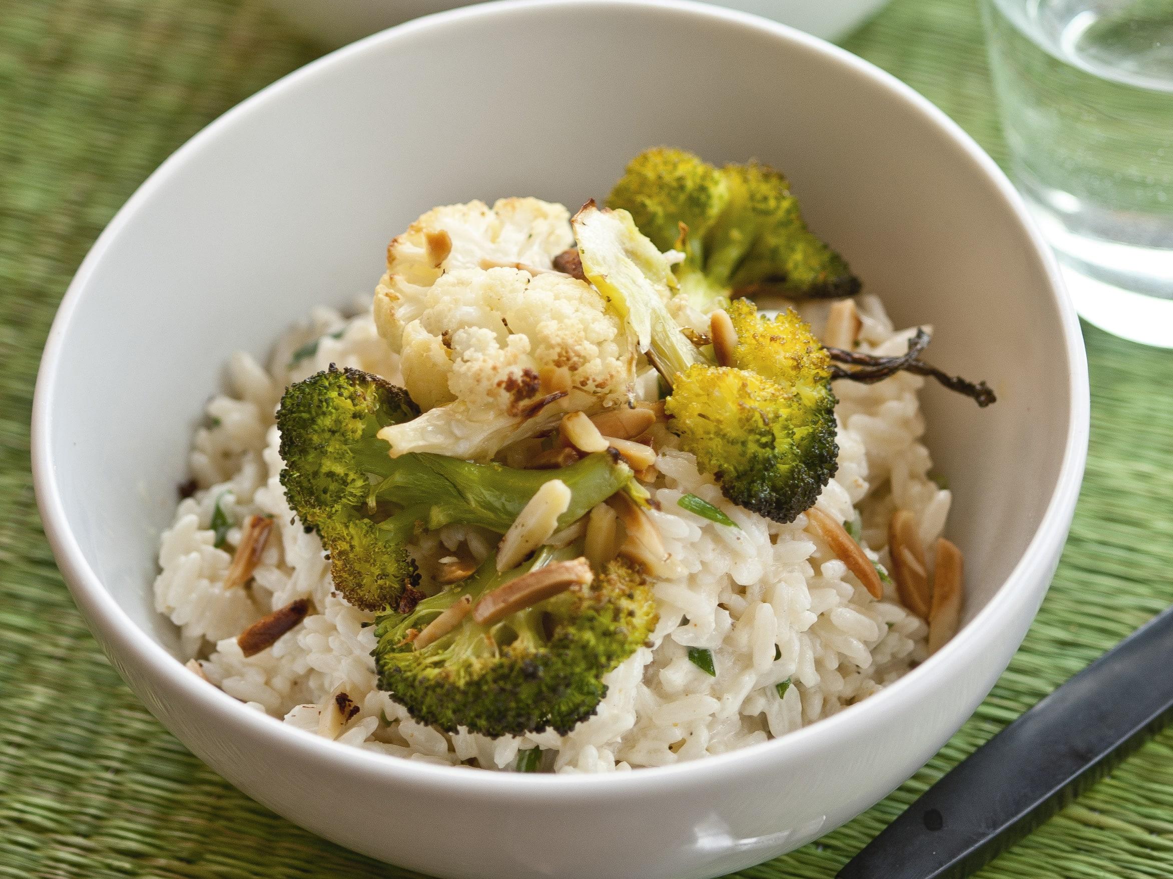 Salade de riz aux légumes grillés