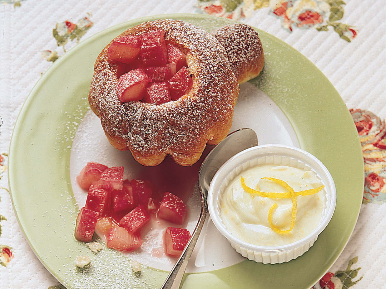 Rhabarber-Zitronen-Brioches
