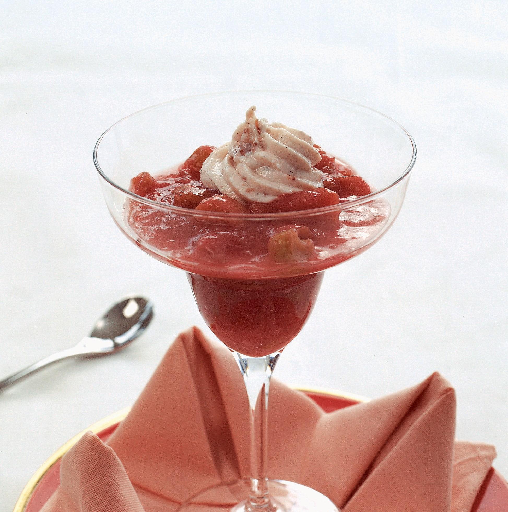 Rhabarberkompott mit Vanillequark
