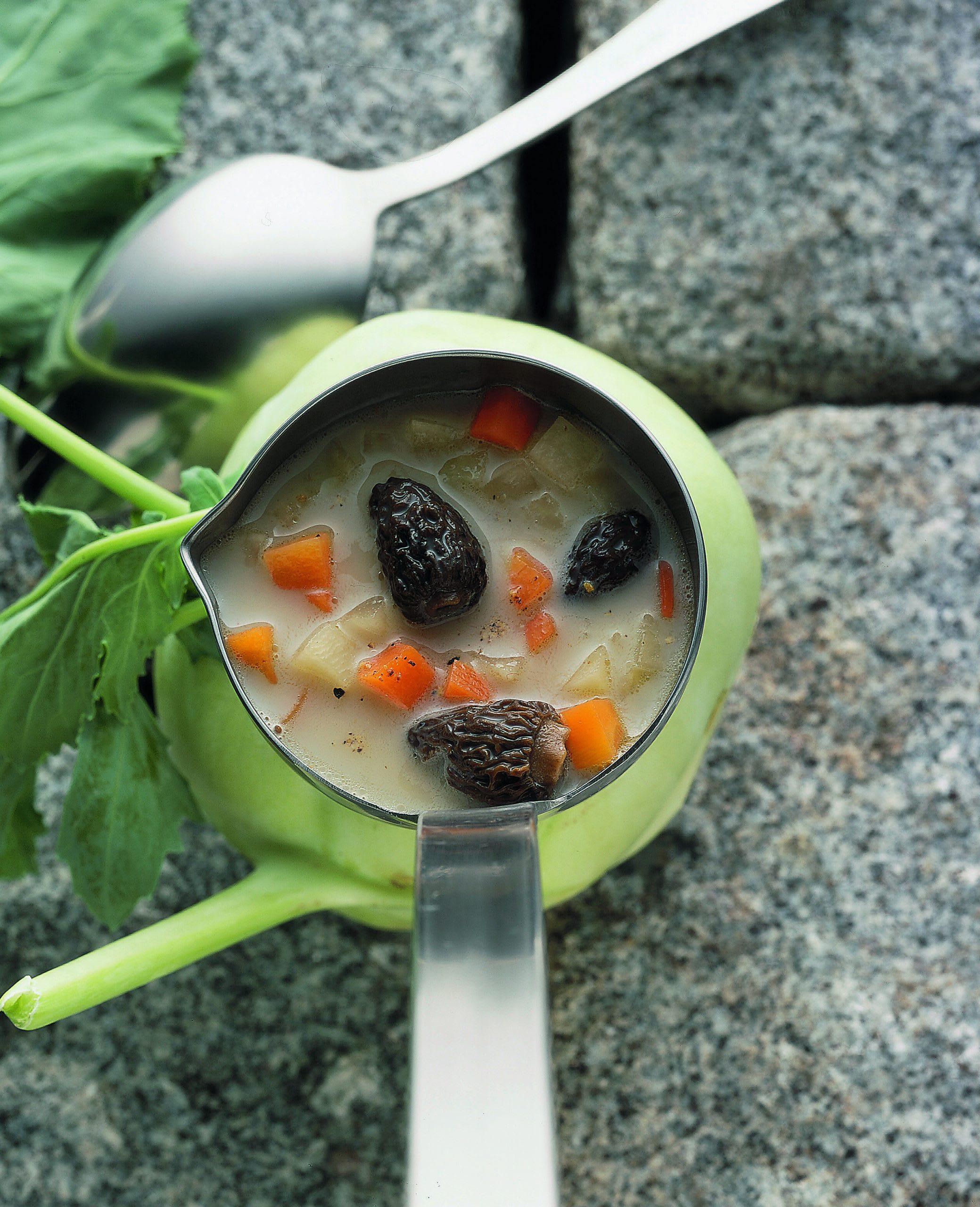 Soupe aux morilles
