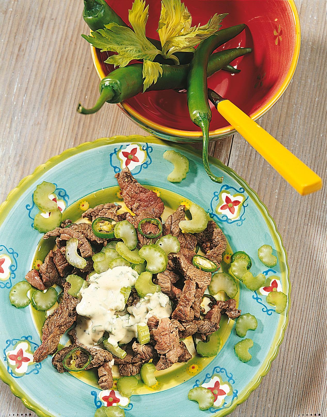 Salade de boeuf et de céleri