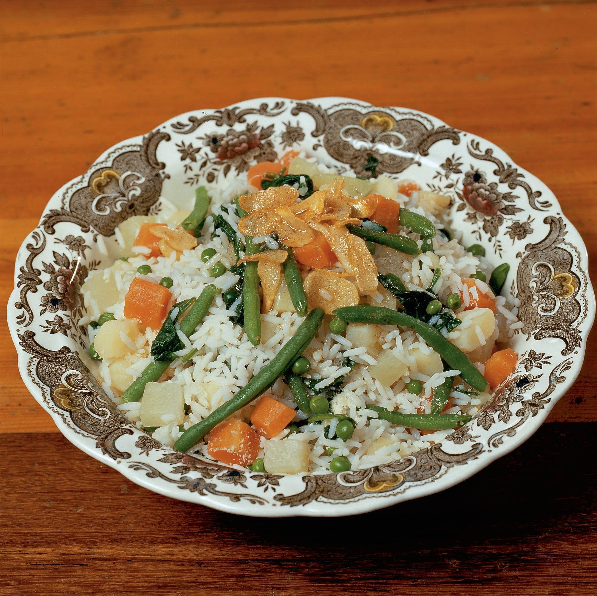 Riz cönsc (riz aux légumes)