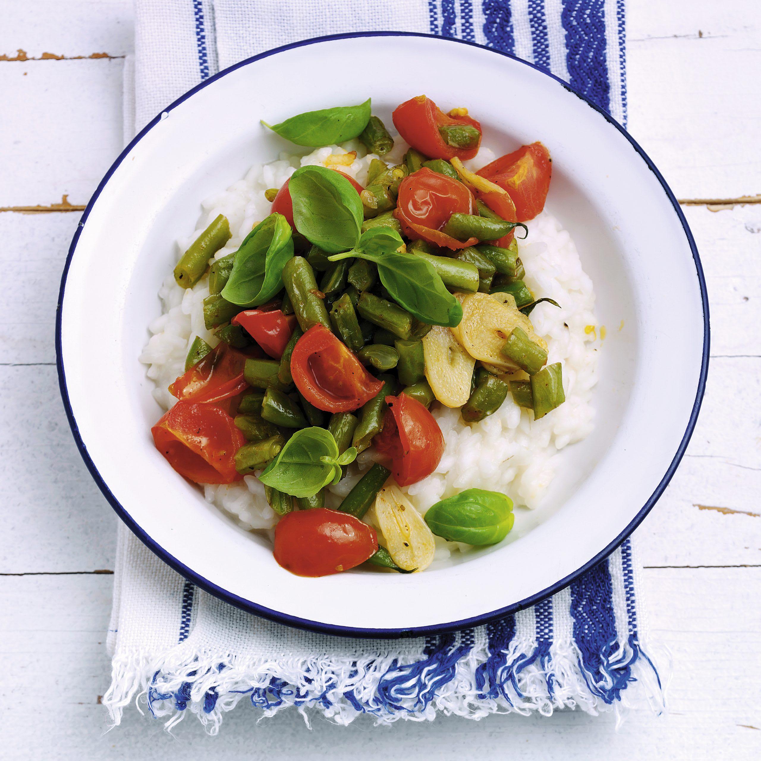 Risotto aux légumes d'été