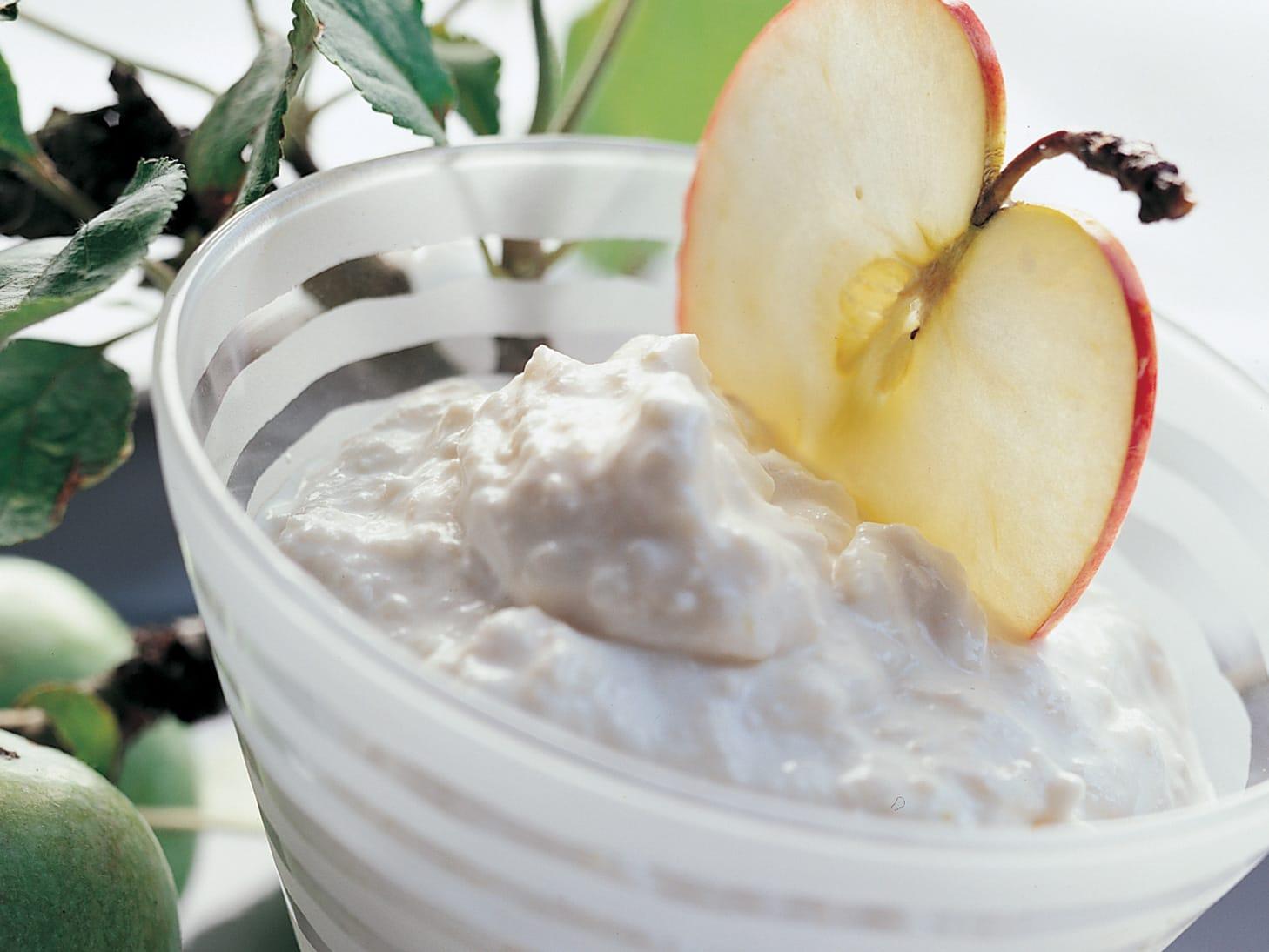 Crème aux pommes râpées