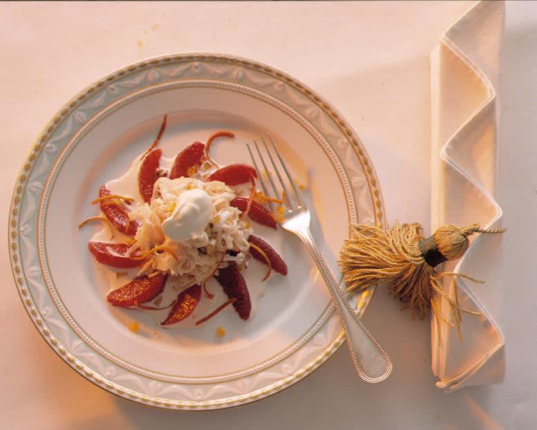 Salade de choucroute crue à la crème acidulée